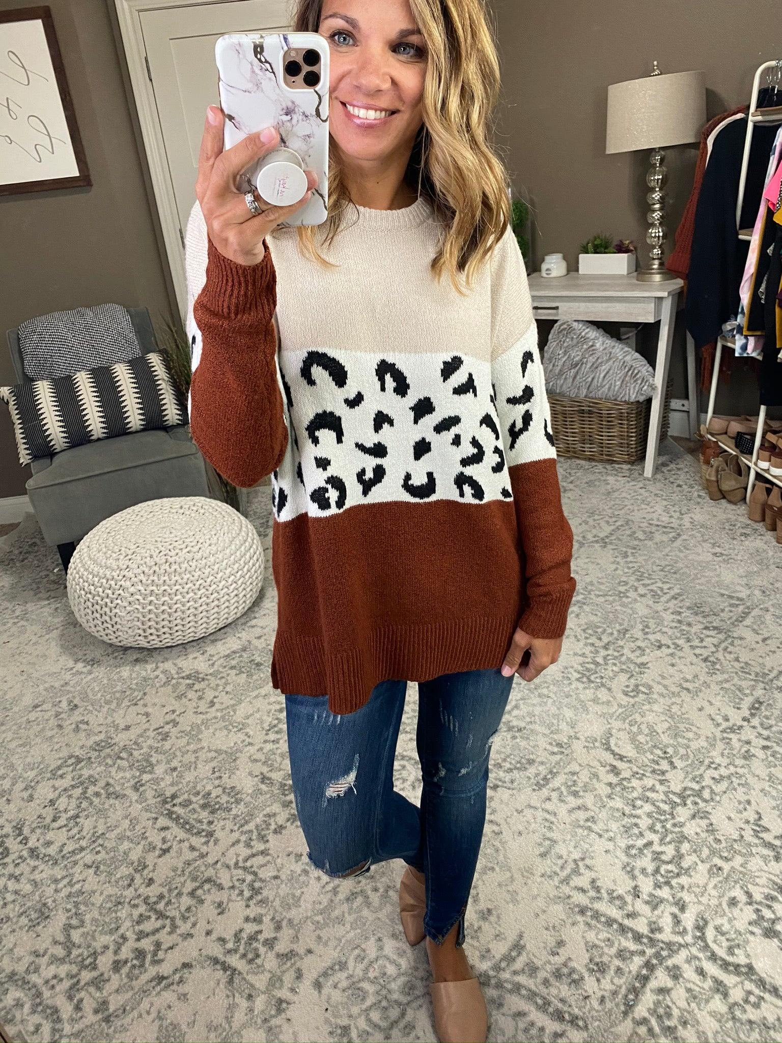 Out All Night Color Block Sweater- Multiple Options