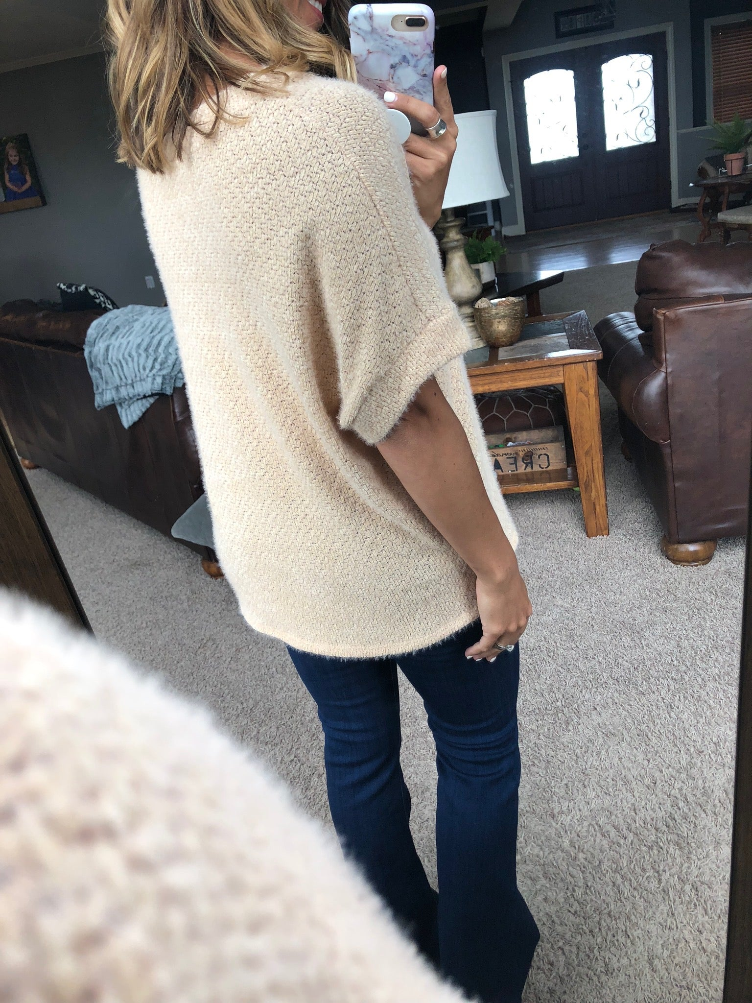 Dream Cloud Oatmeal Mohair Sweater Top