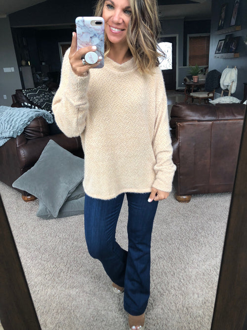 Let's Be Real Mohair Long Sleeve- Fawn