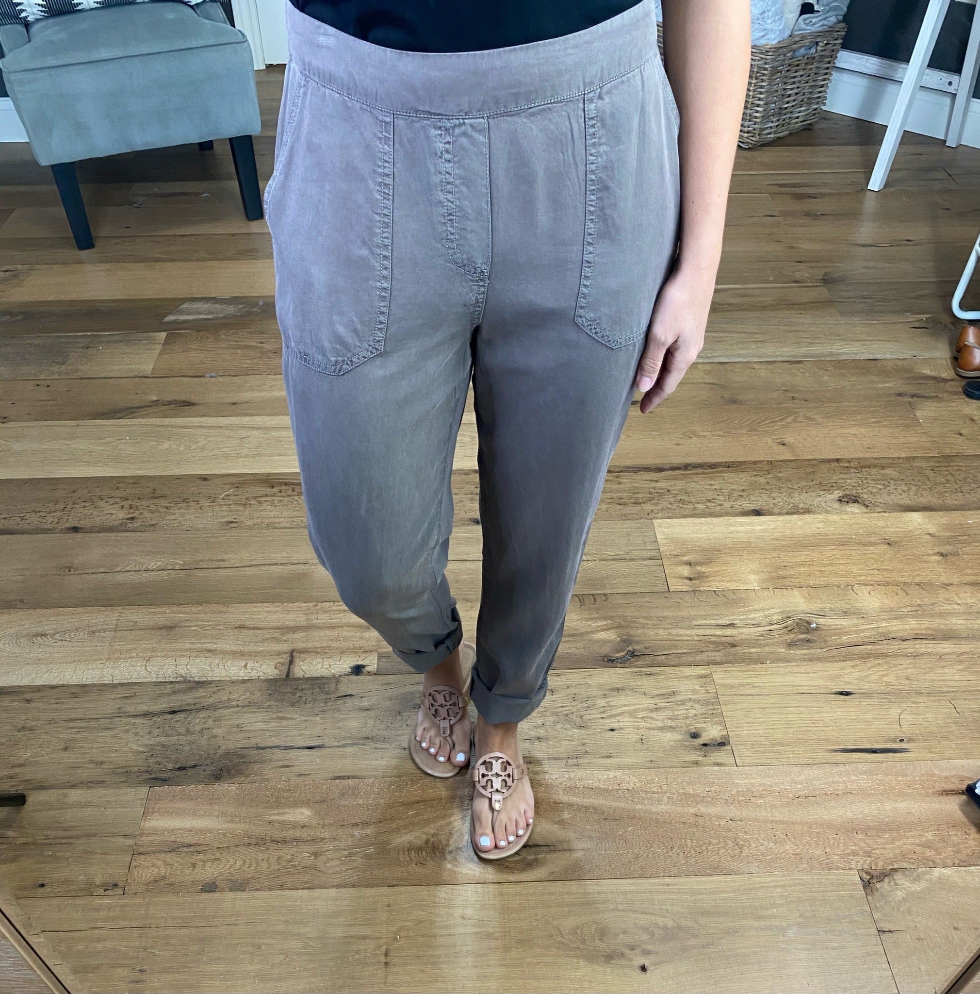 Walk With Me Tencel Pant with Elastic Waistband--Multiple Options