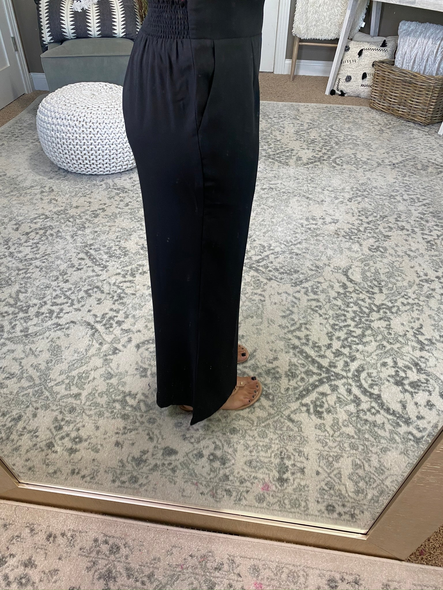 Out The Door High Rise Black Wide Leg Pants