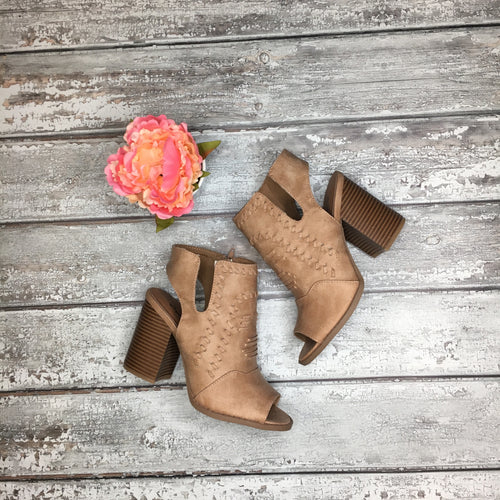 Livia Stone Open Toe Booties