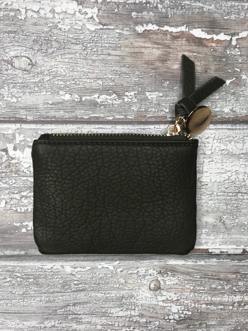 Hunter Green Mini Purse with Metallic Coin