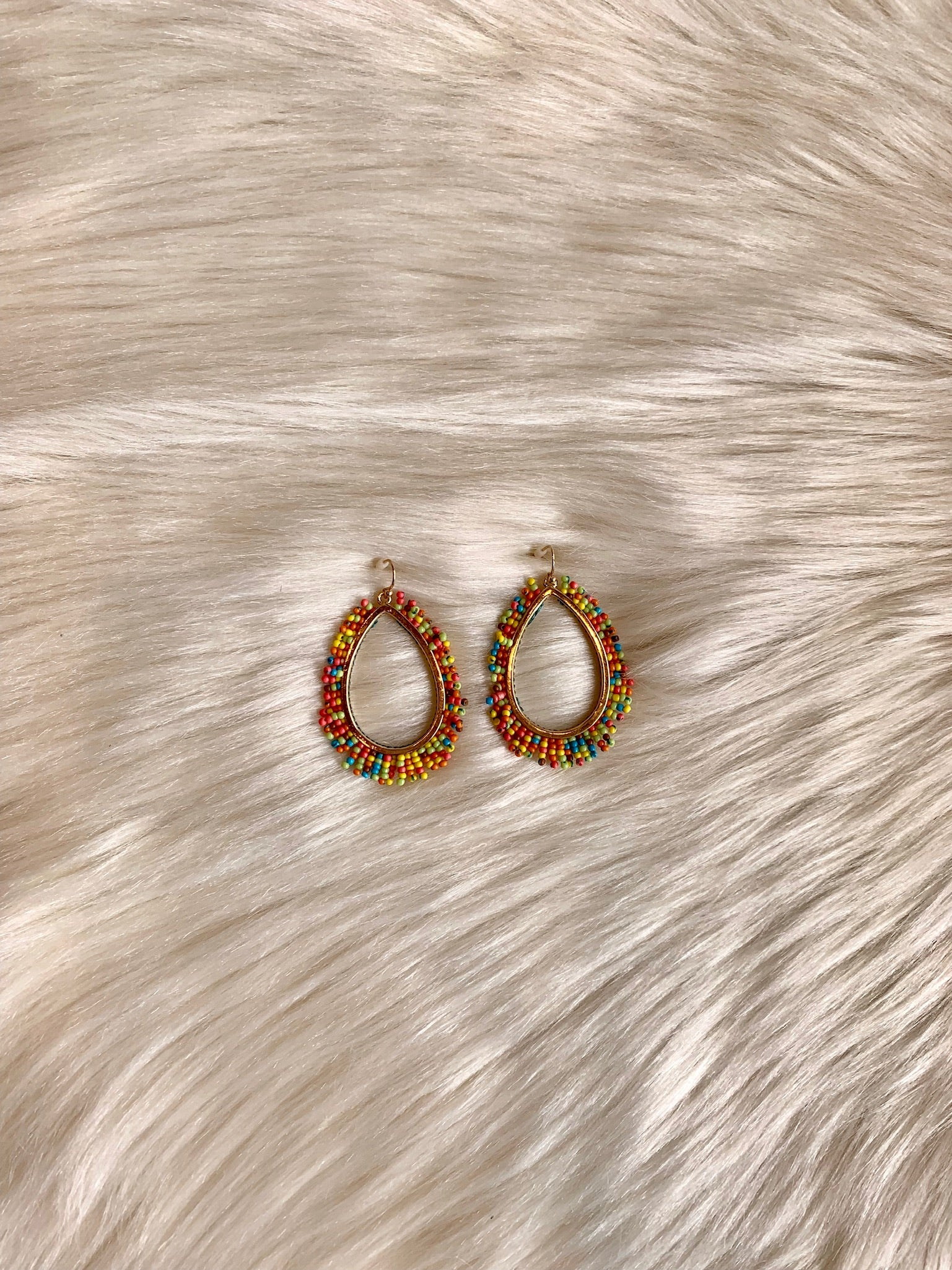 Festive Feelings Multi Colored Bead Earrings