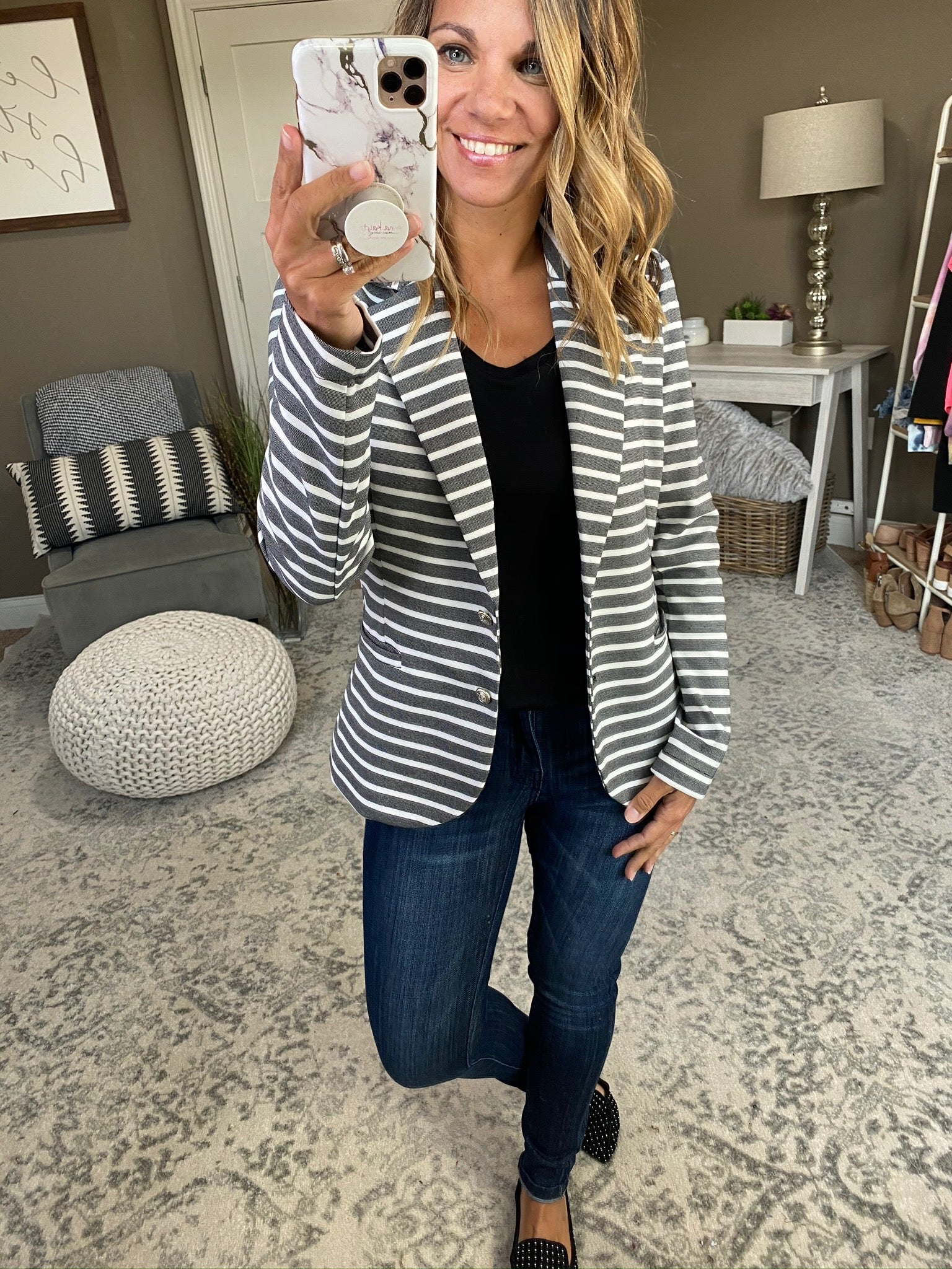 Bring Me Back Striped Blazer--Multiple Options