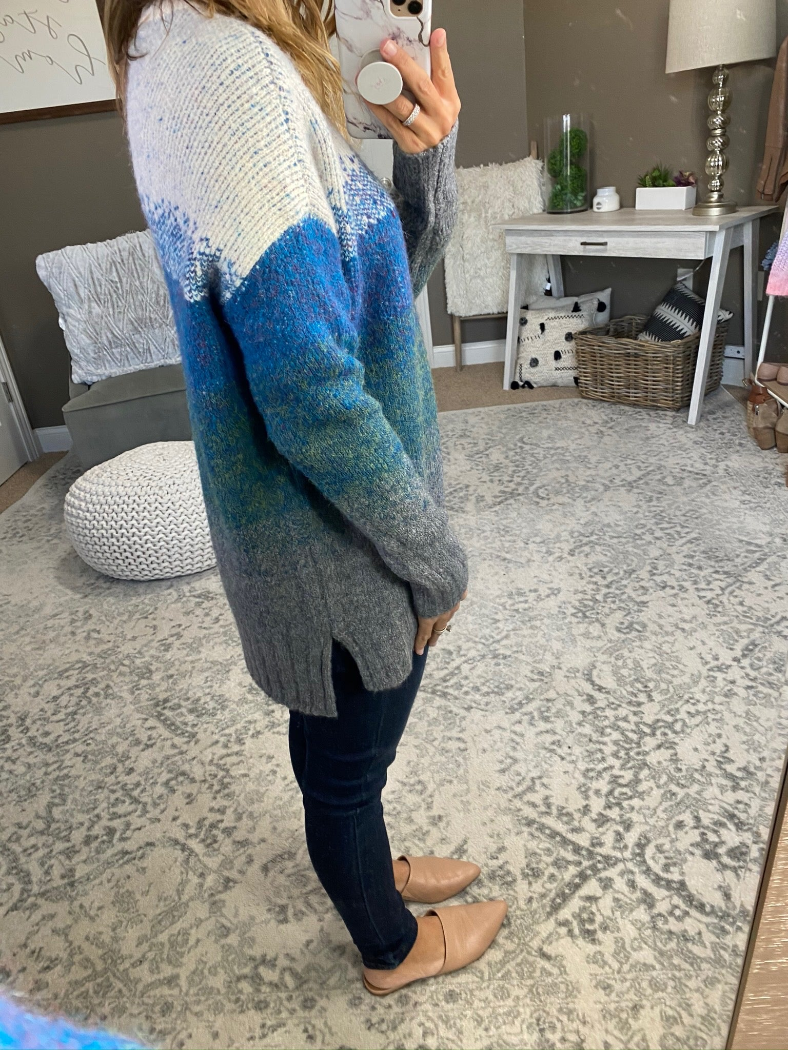 Like A Sunset Ombre Knit Crew Sweater- Multiple Options