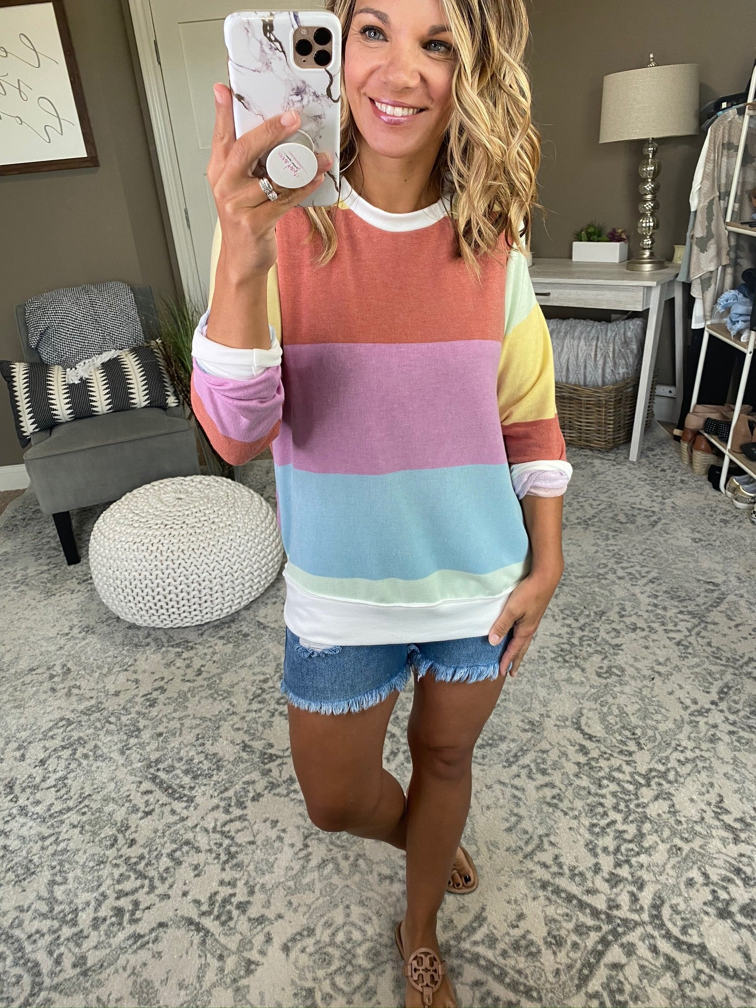 Safe Haven Mixed Stripe Long Sleeve
