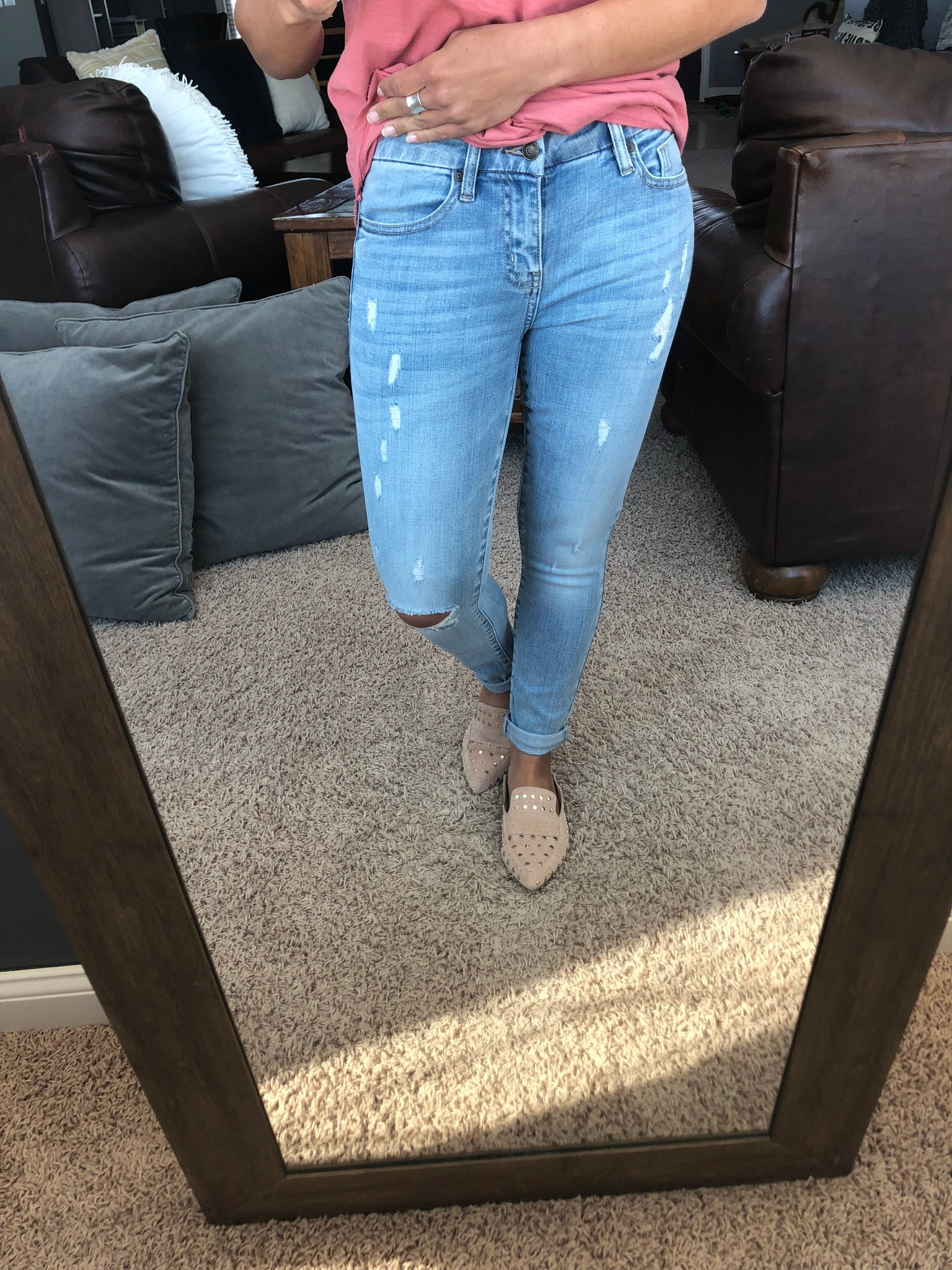 Can't Get Enough Light Wash Mid Rise Skinny Jeans