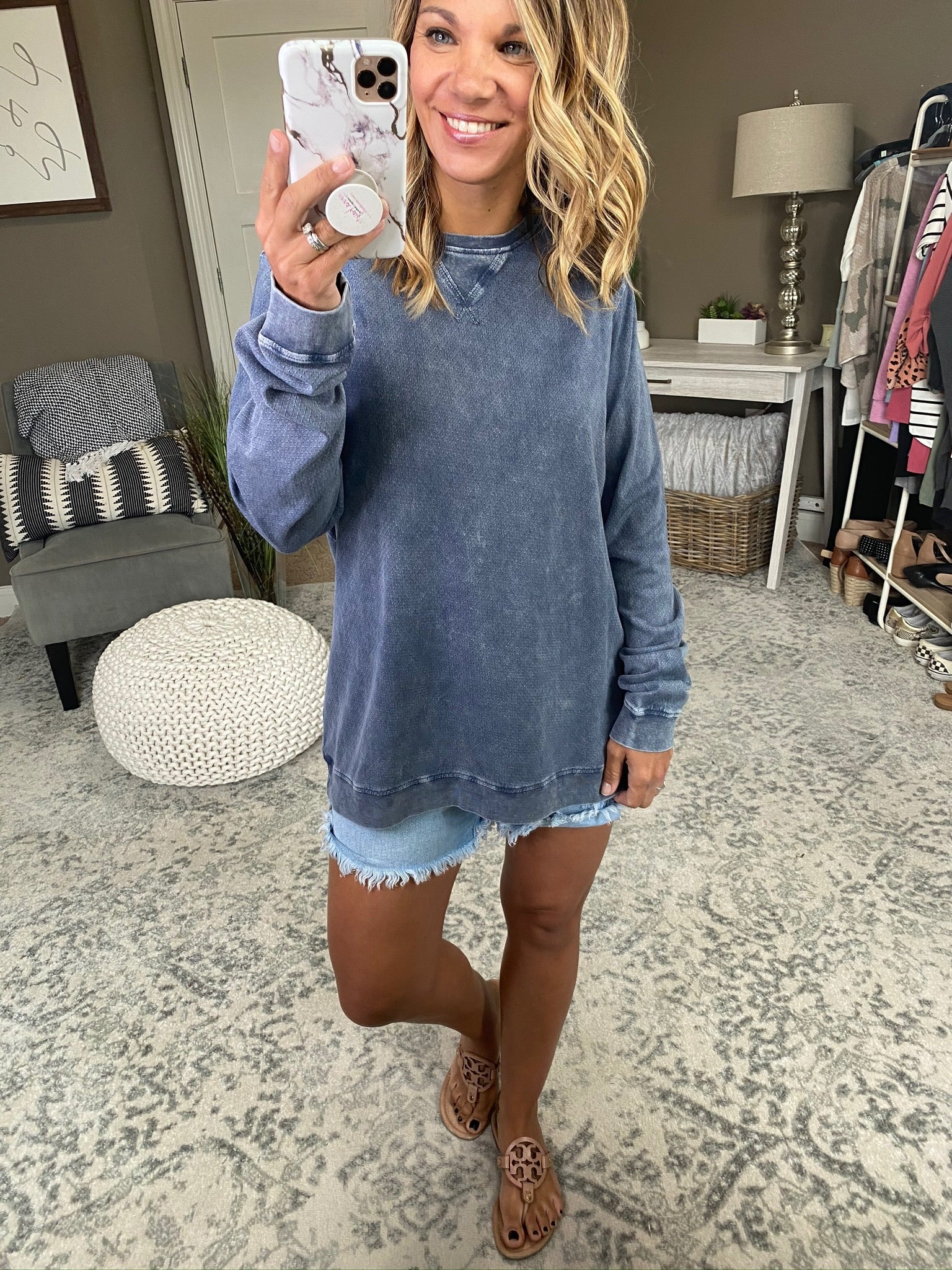 Epiphany Mineral Wash Textured Long Sleeve- Multiple Options