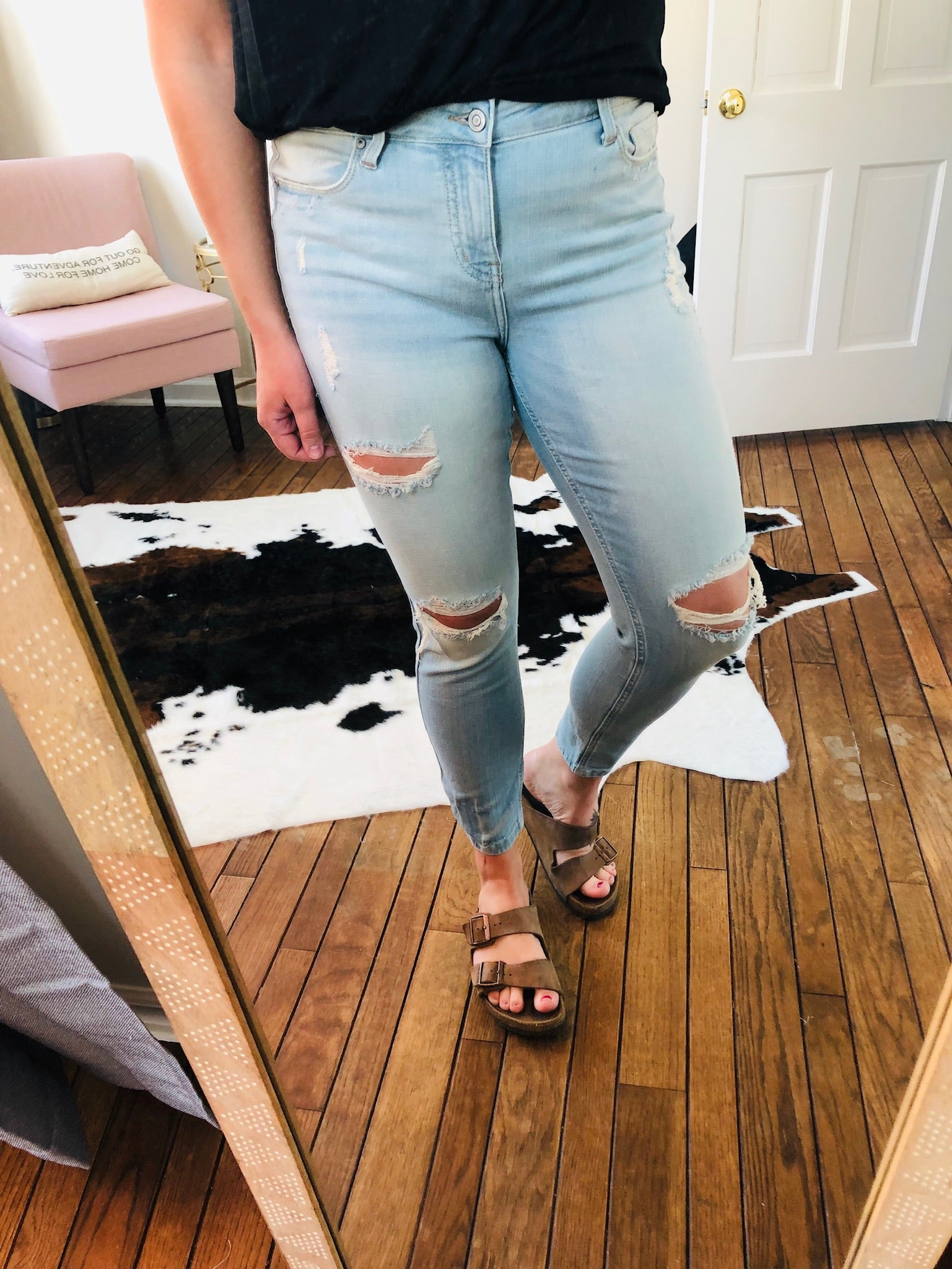 Finding My Way Light Wash Low Rise Skinnies