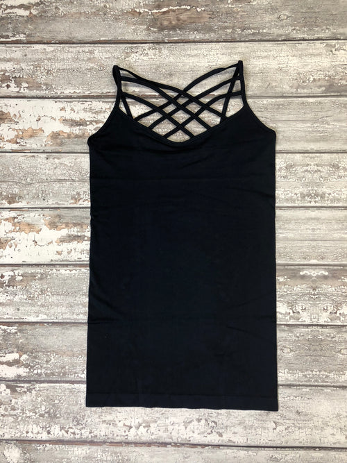 Must Have Criss Cross Tank Plus - Navy