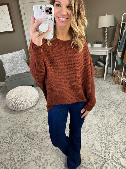 Life Is Good Ribbed Dolman Sweater - Multiple Options