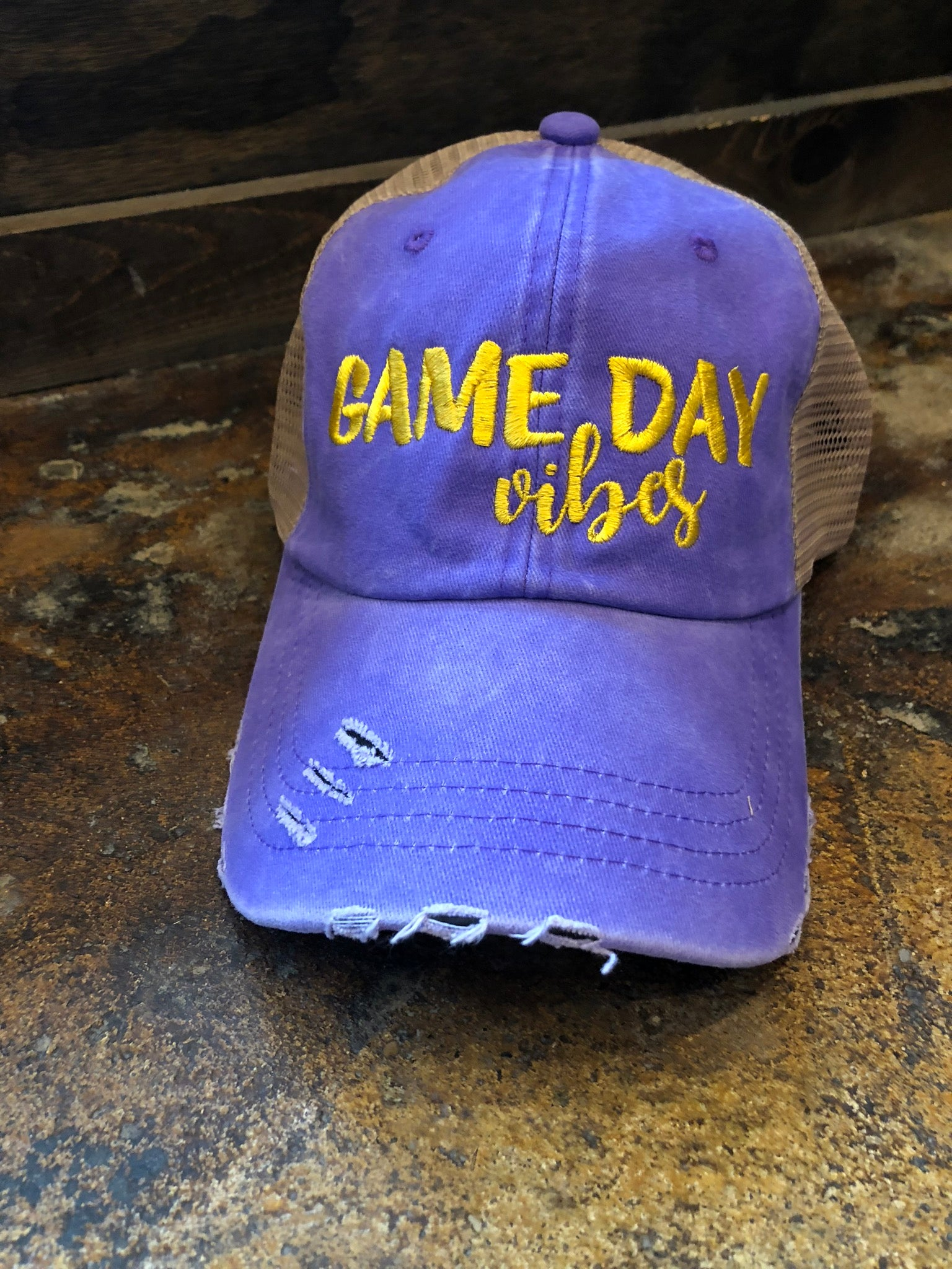 Game Day Vibes Baseball Hat - Purple