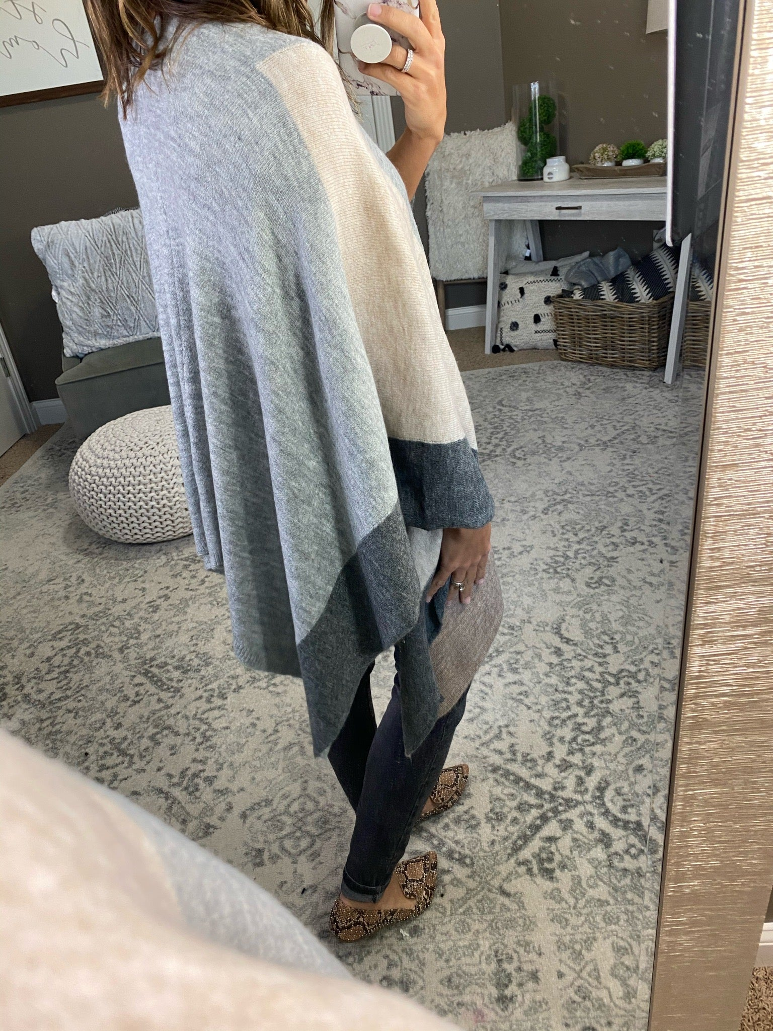 Wrapped Up In You Knit Poncho Cardigan