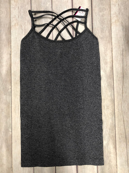 Must Have Criss Cross Tank - Ash Charcoal