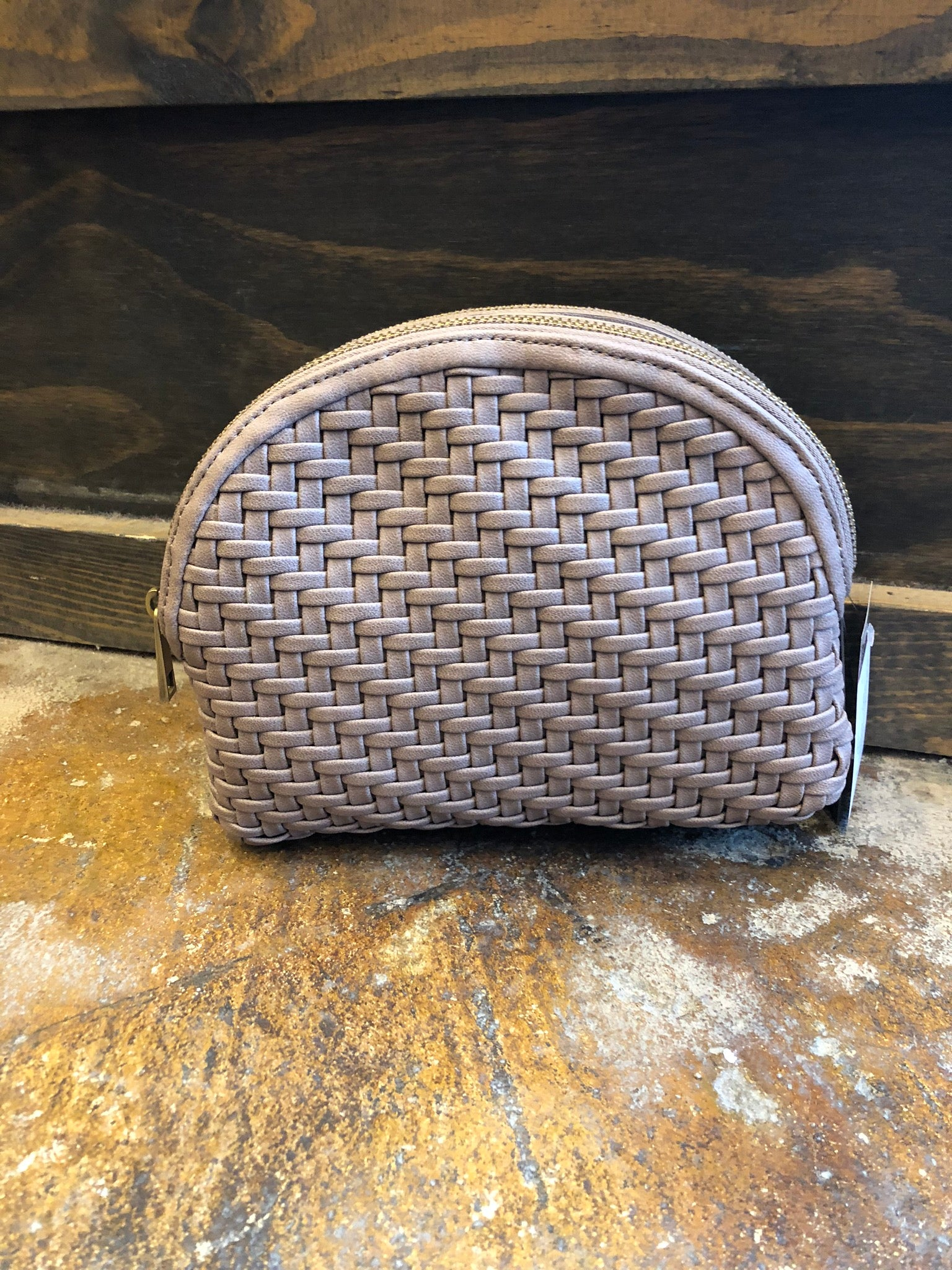 High Moon Rising Mauve Weave Crossbody Purse