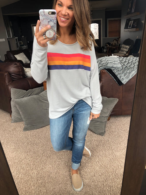 Ocean Sunrise Silver Long Sleeve