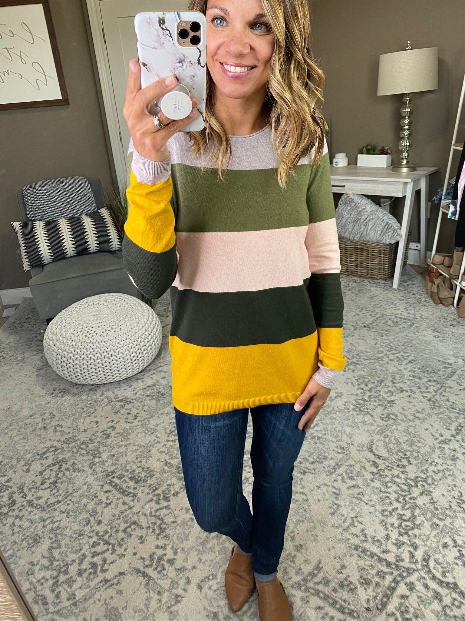 All Planned Out Fall Mix Colorblock Sweater