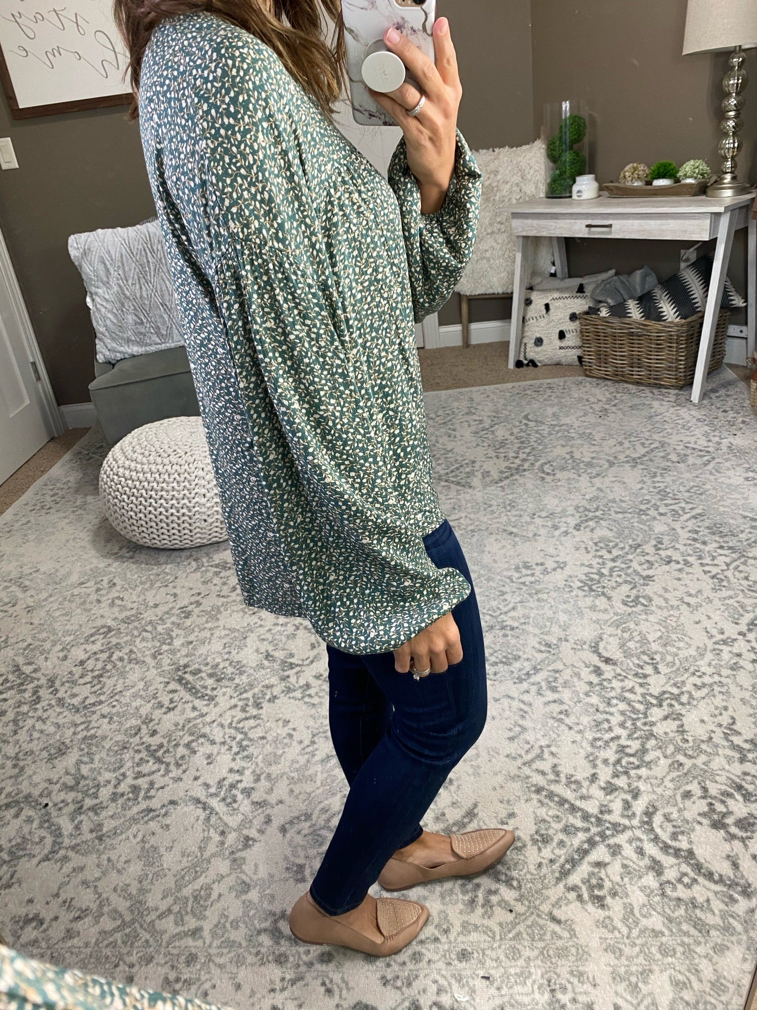 Forever After All Floral Print Boho Blouse--Multiple Options