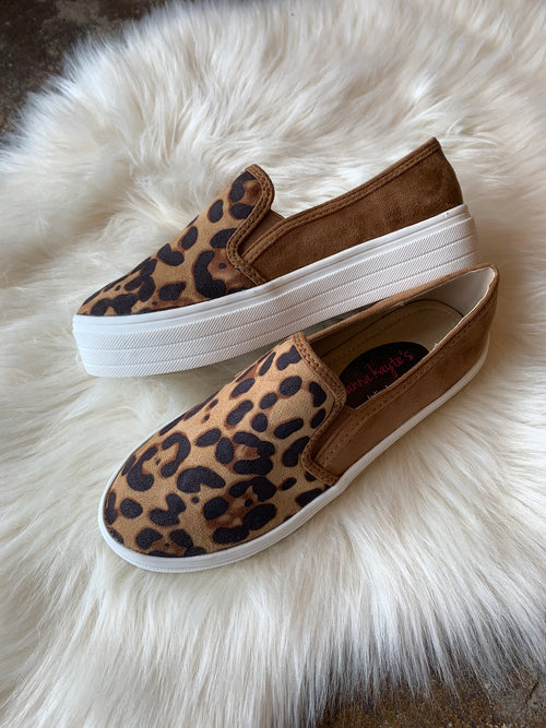 Free To Roam Platform Slip Ons - Leopard shoes