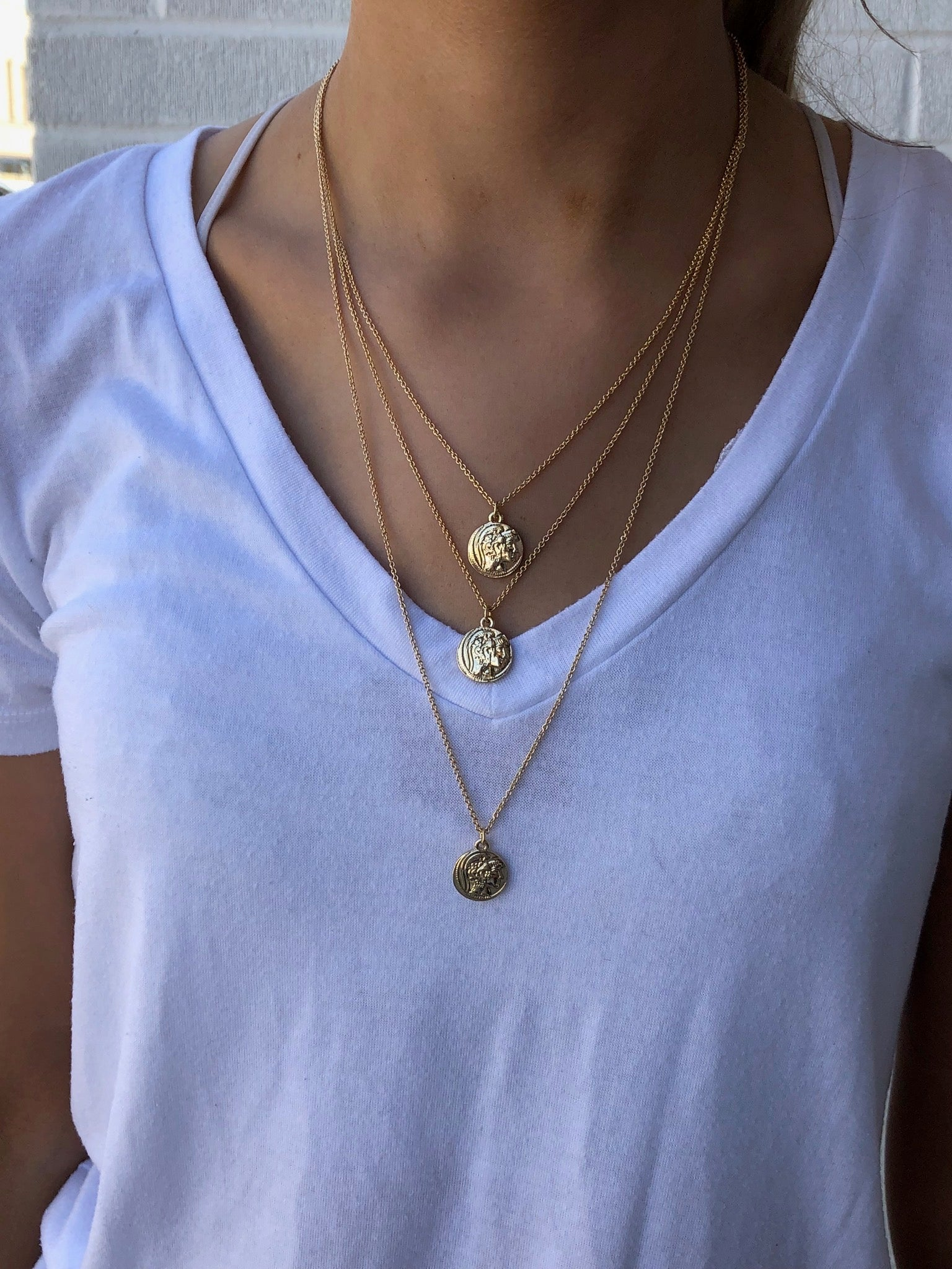 Soul Vacation Layered Gold Coin Necklace