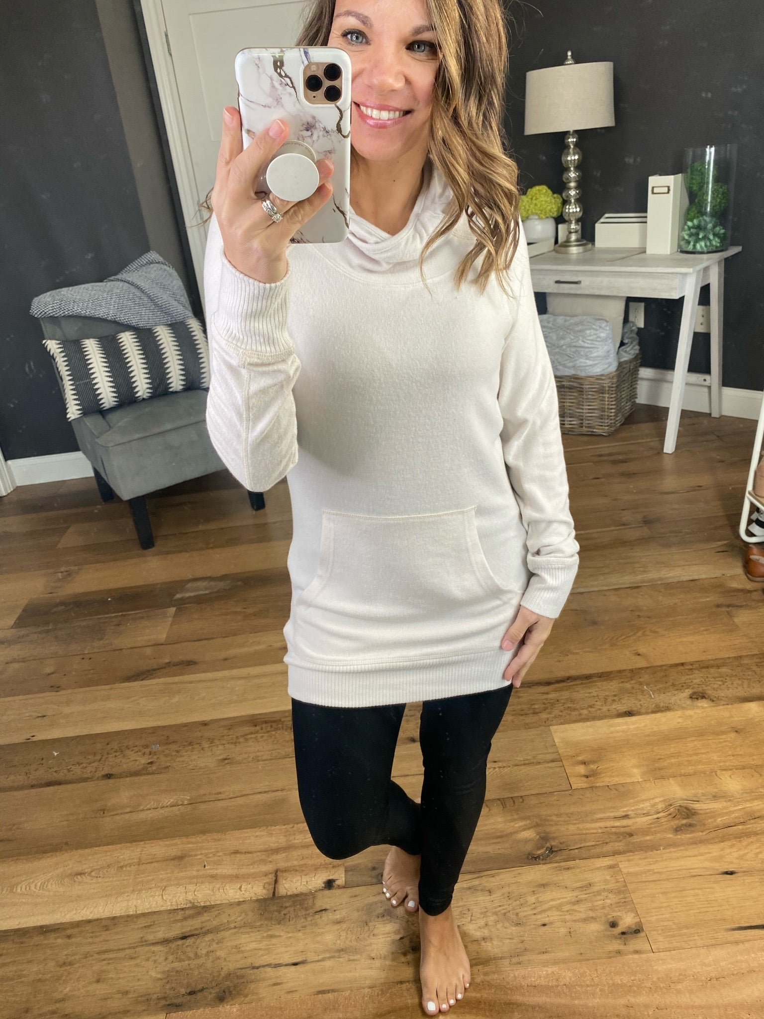 Holding Out Tunic Length Hoodie with Thumbholes--Multiple Options