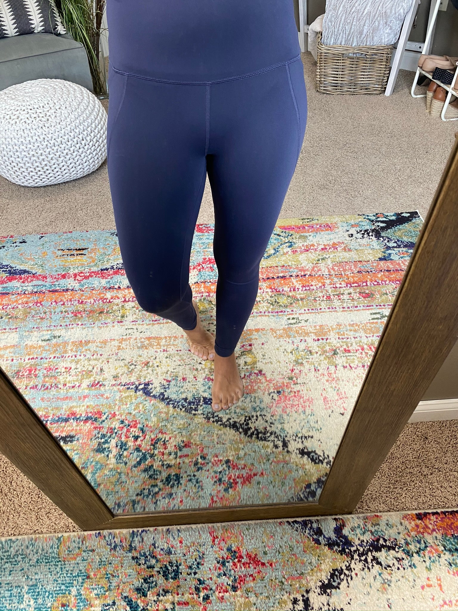 Feeling Lucky High Waisted Dark Purple Butter Soft Leggings with Pockets