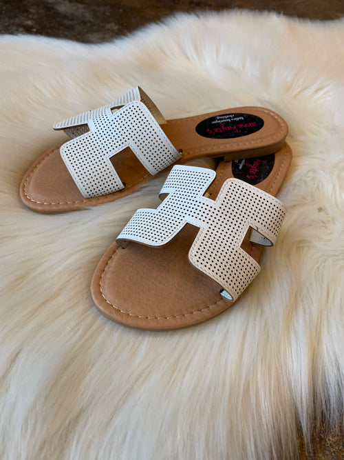 Summer Heat White Sandals
