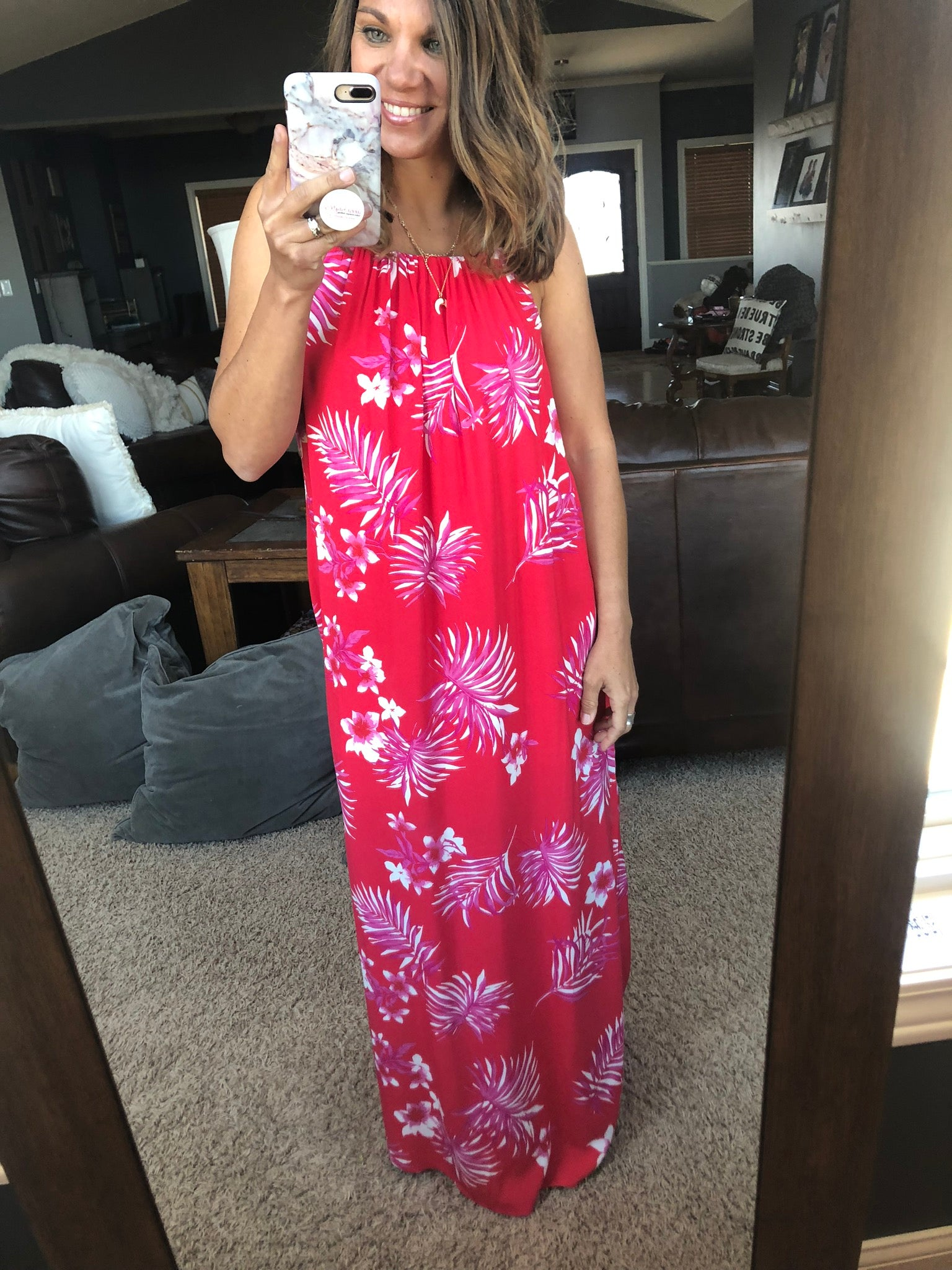 Sipping Sangria's Floral Maxi Dress w. Side Slits