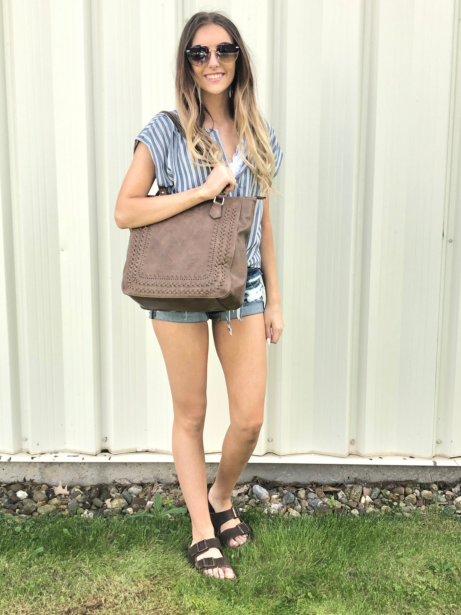 Legendary Braided Square Shoulder Bag- Mutliple Color Options