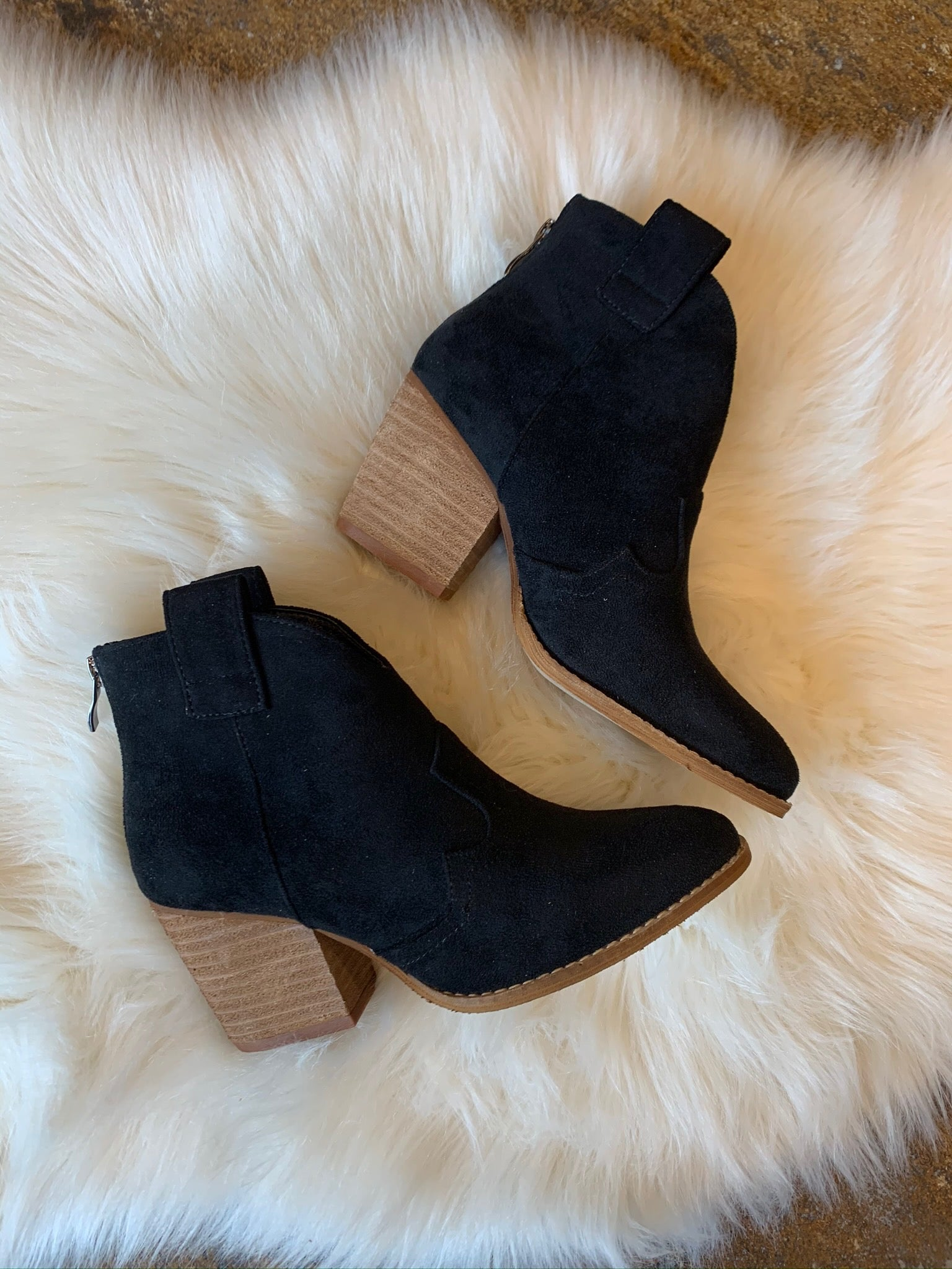 Bad At Love Faux Suede Bootie- Black