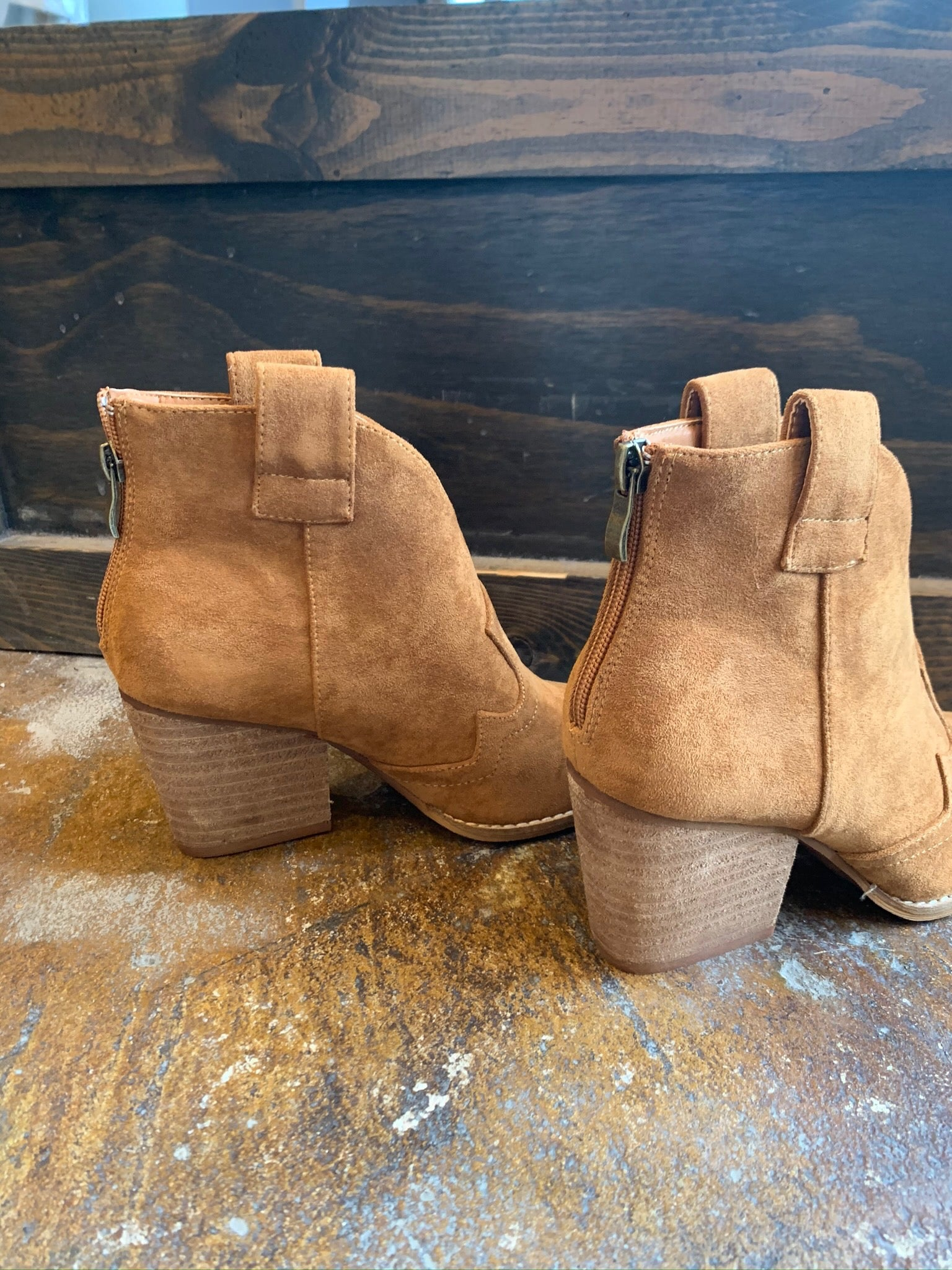 Bad At Love Faux Suede Bootie- Tan
