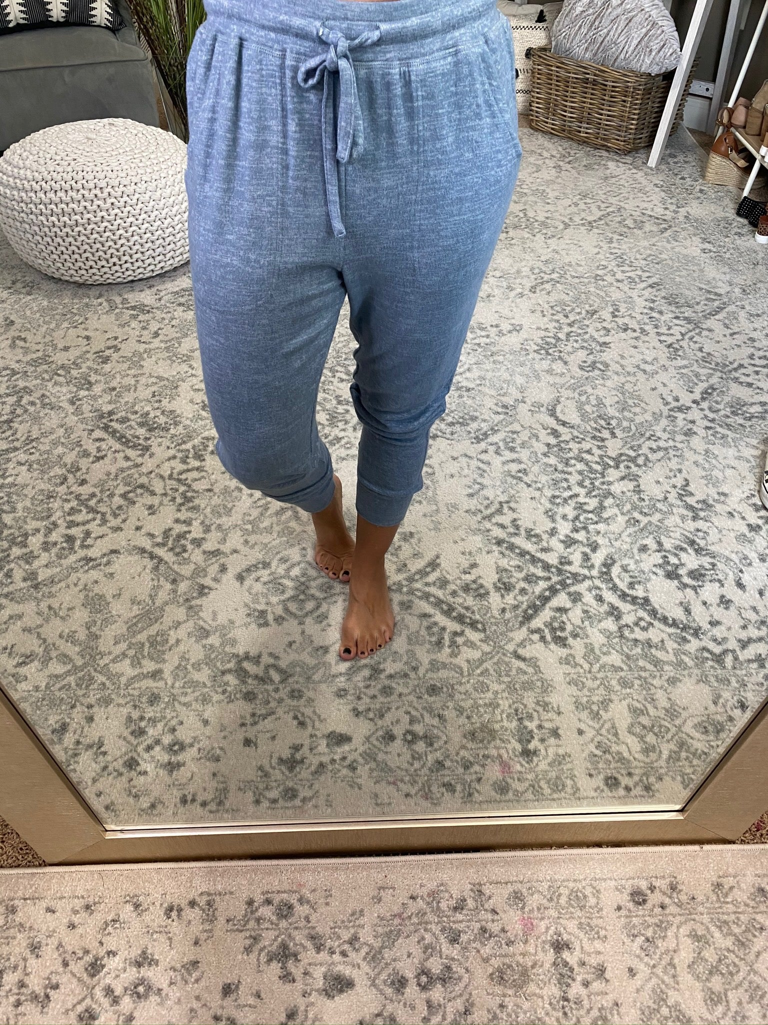 All Your Life Denim Blue Joggers