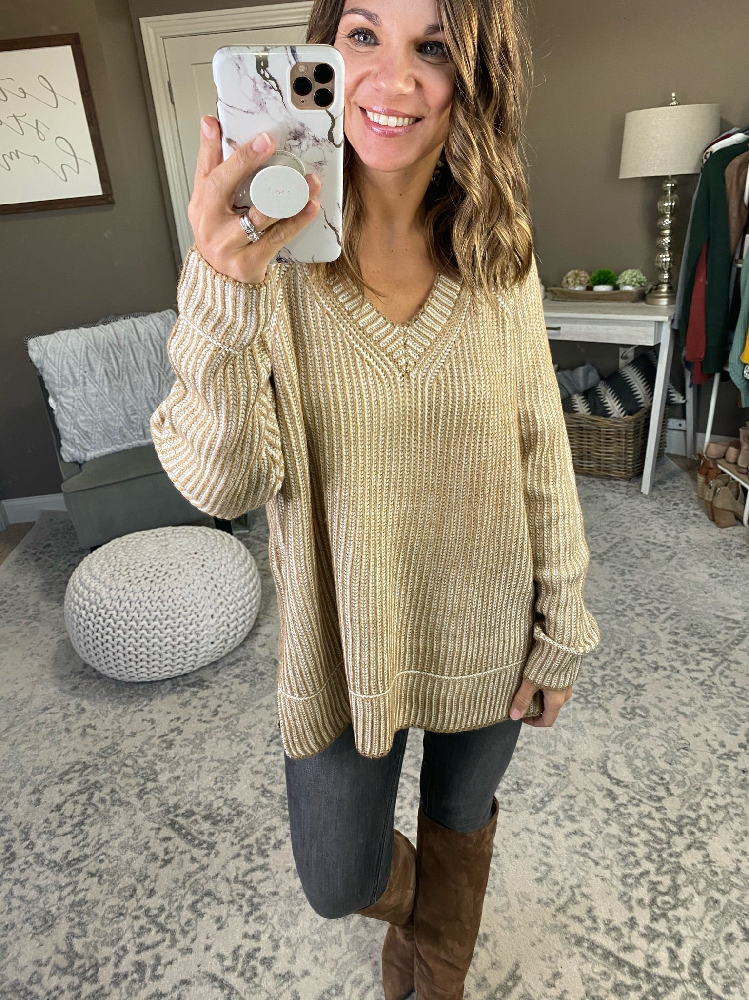 Bring Me Love V-Neck Ribbed Sweater - Multiple Options