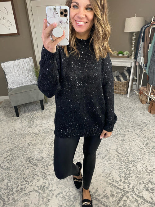 Shine Your Light Sequin Knit Sweater- Multiple Options