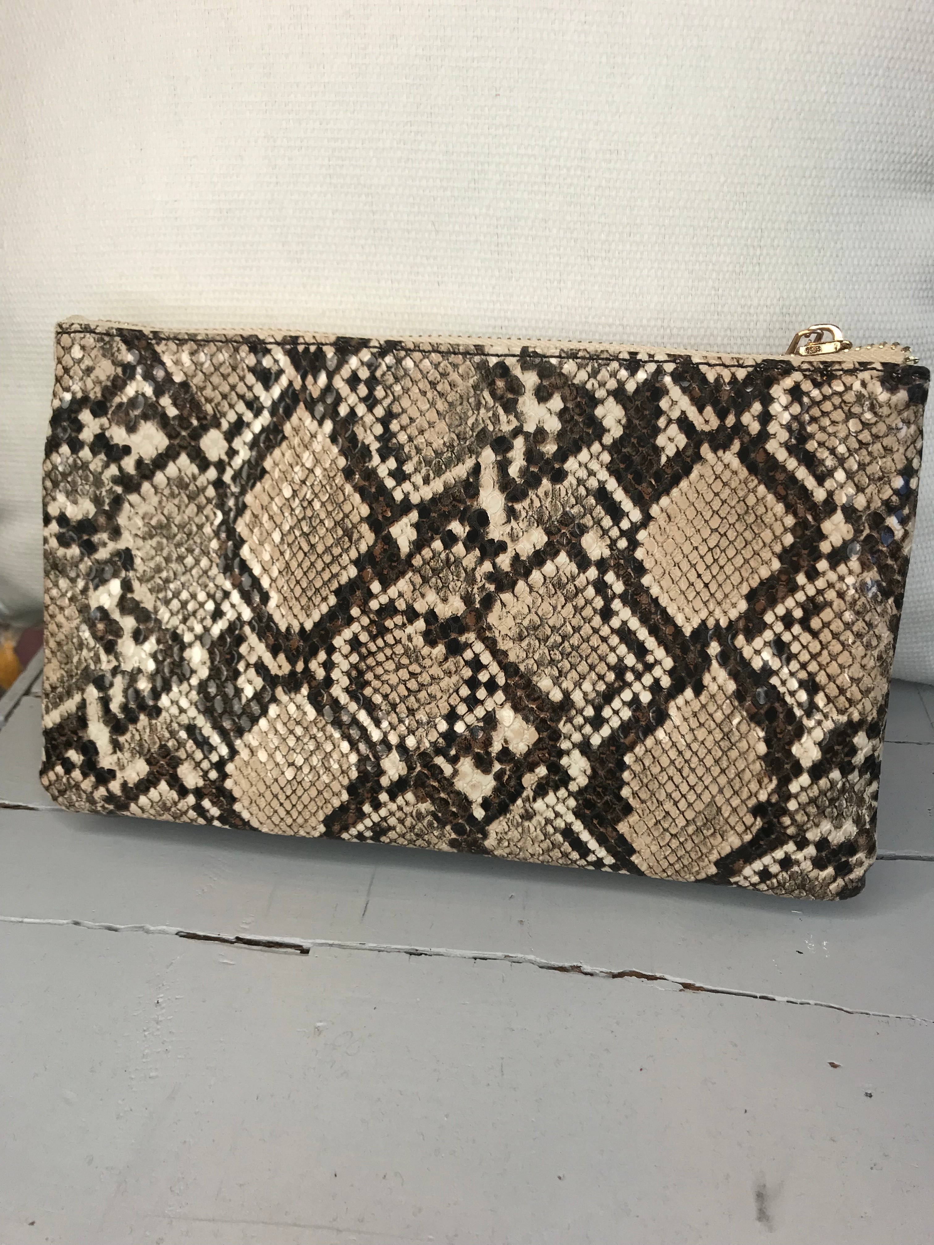 Since You've Been Gone Purse- Tan Snakeskin