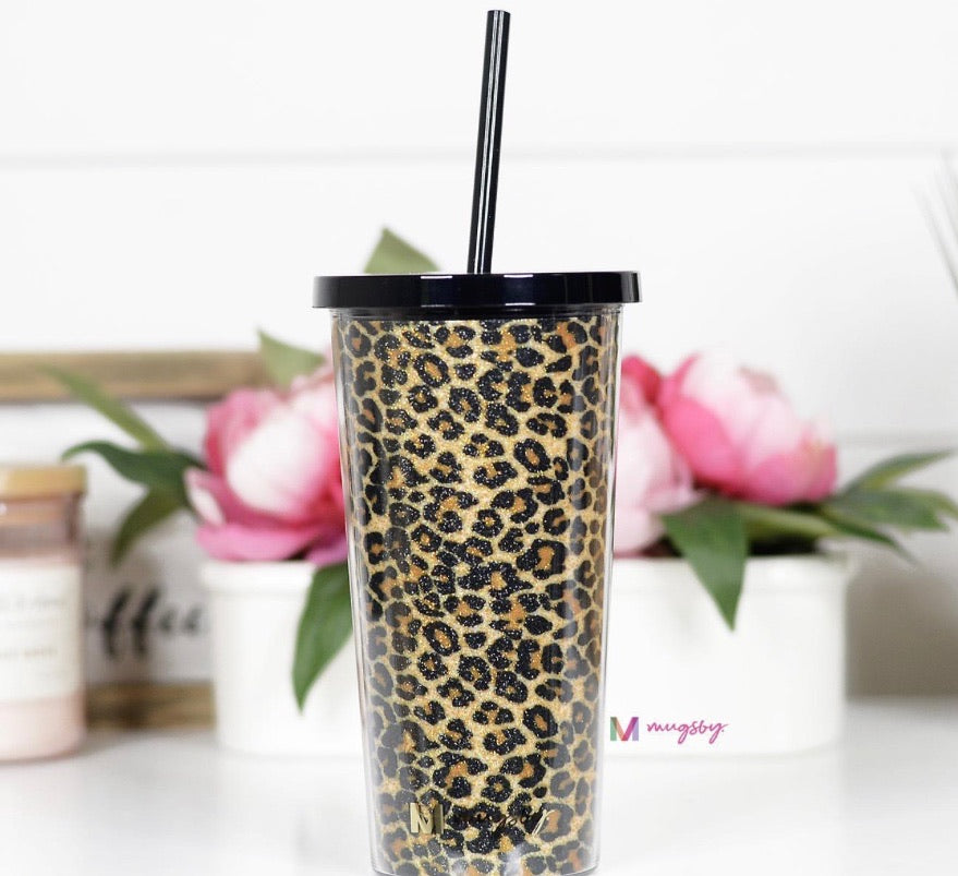 Sip Back and Relax Plastic Double Wall Tumbler with Reusable Straw- Multiple Options