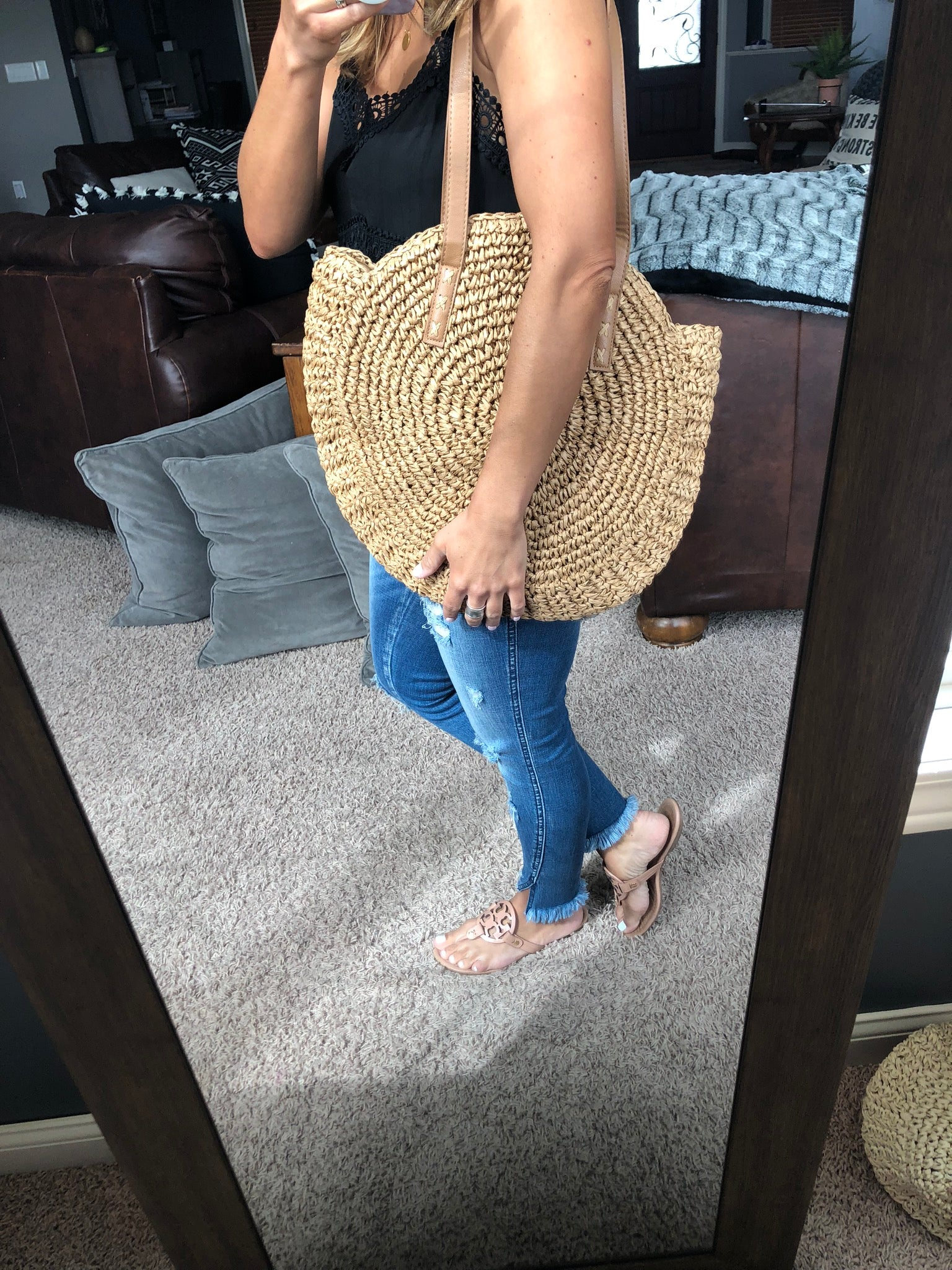On The Border Rattan Purse - Natural