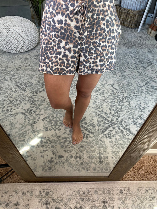 Hung Up On You Leopard Comfy Shorts with Pockets