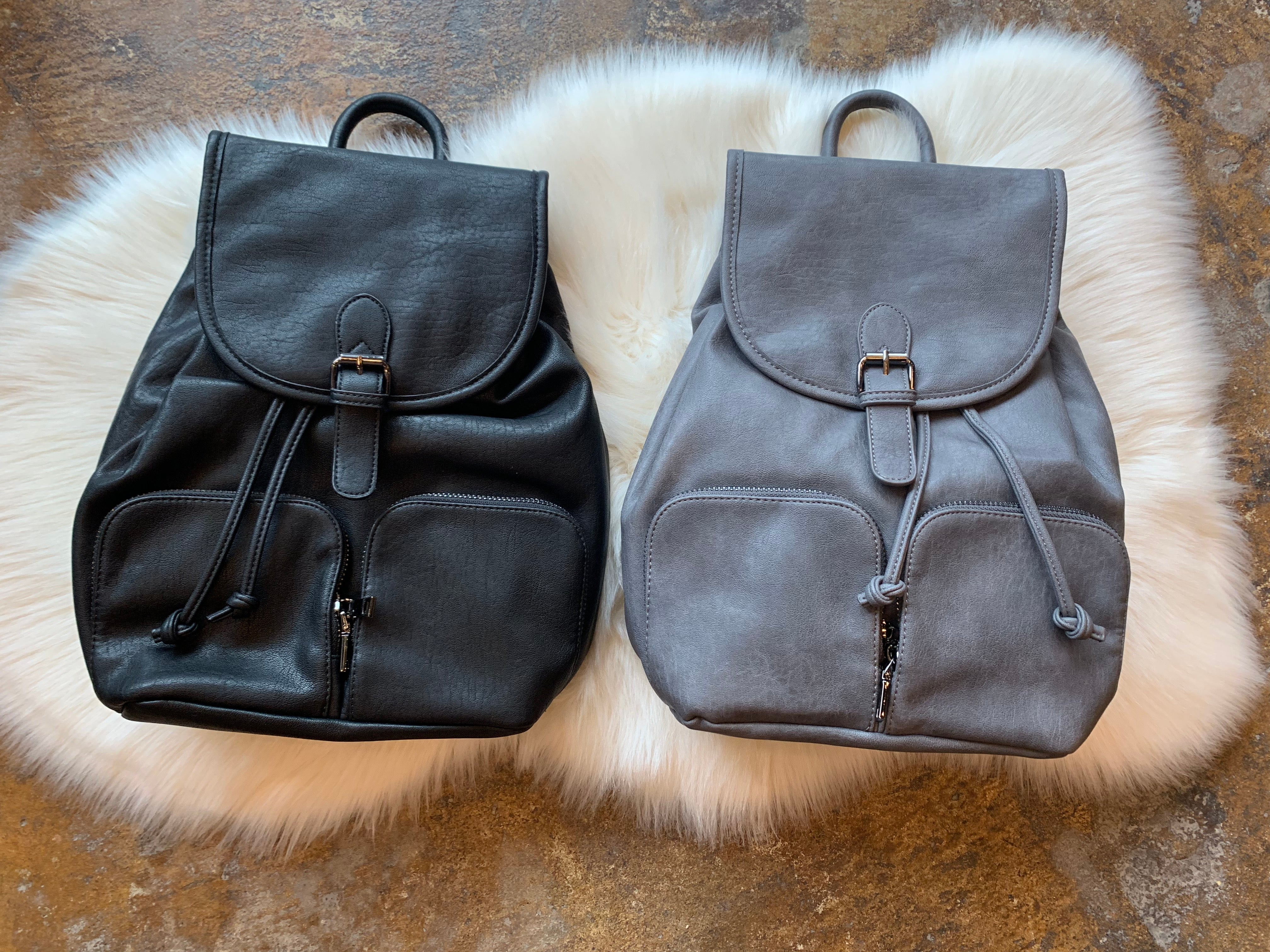 Girl's Day Vegan Leather Drawstring Backpack- Multiple Options