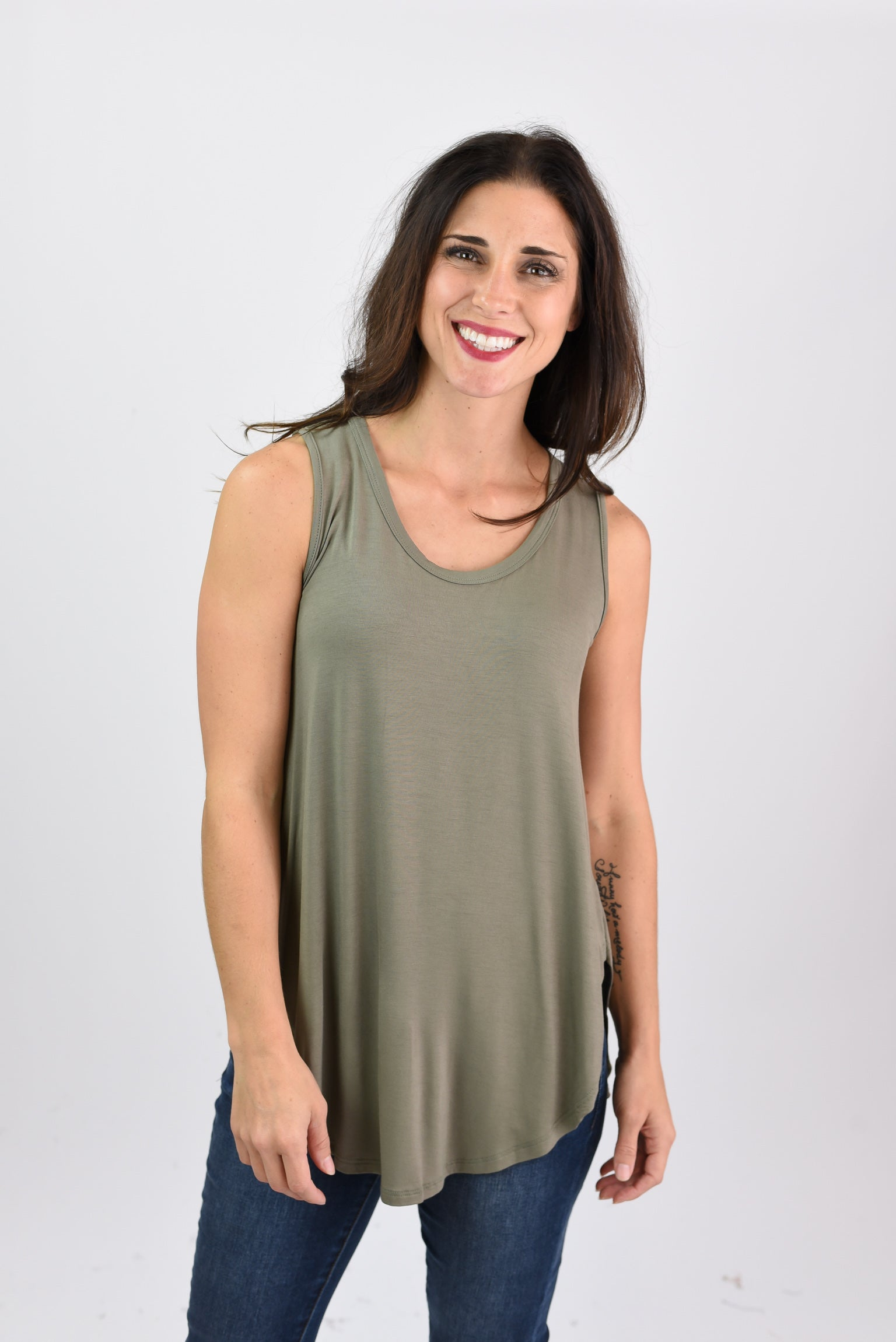 Local Hideaway Boatneck Tank - Olive