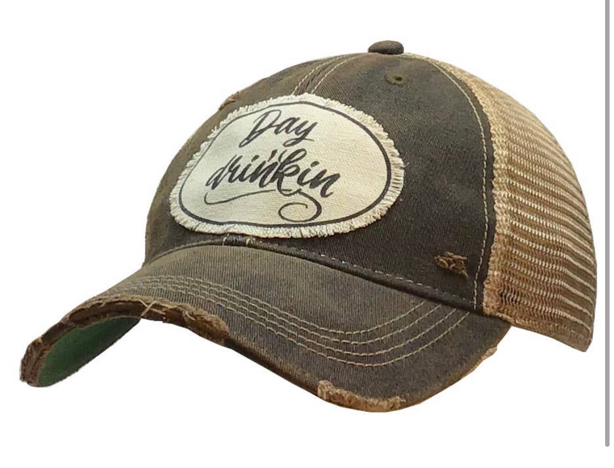 Stick Around Distressed Ballcap- Multiple Options