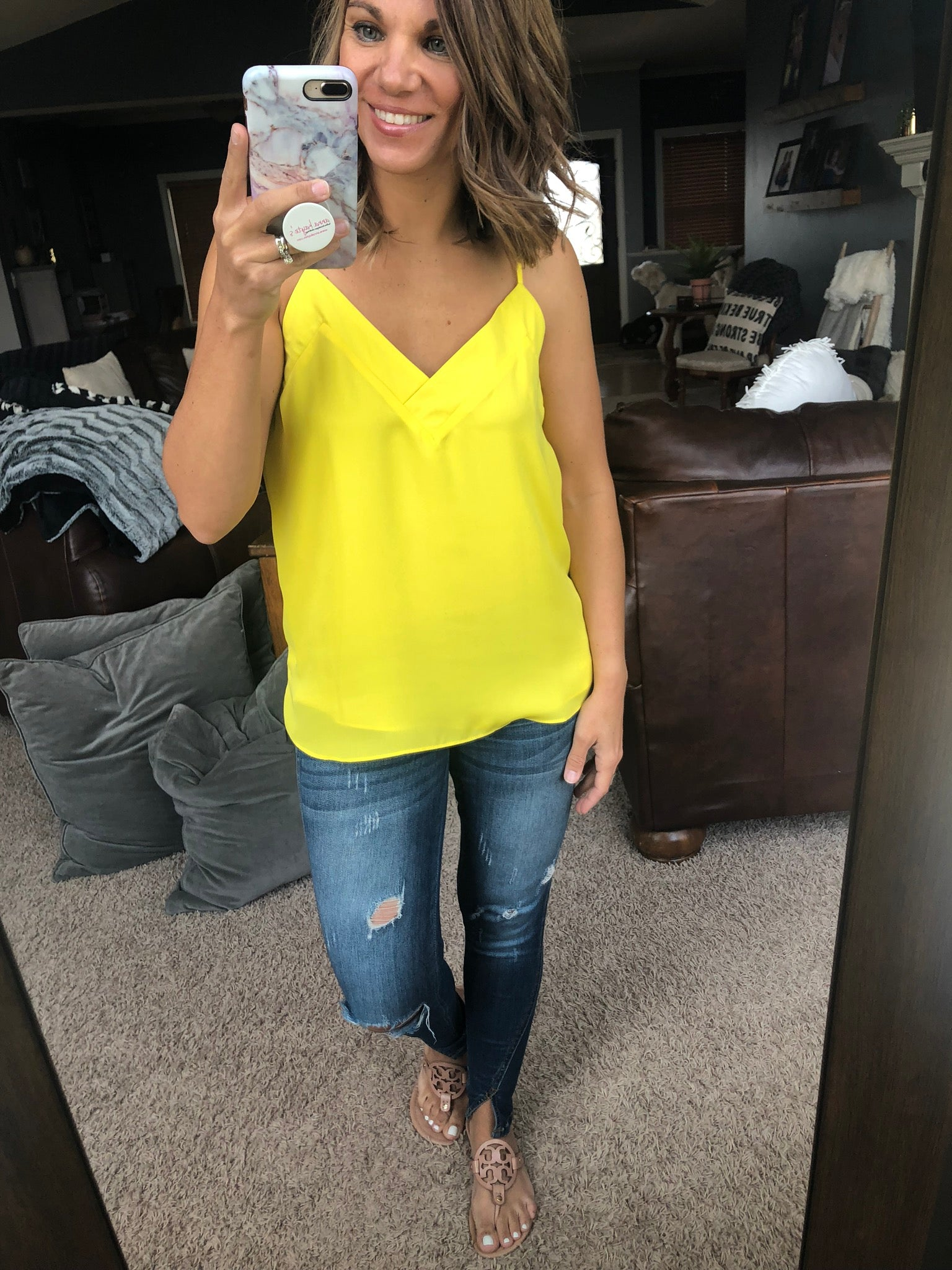 Make Your Choice Vneck Cami - Yellow