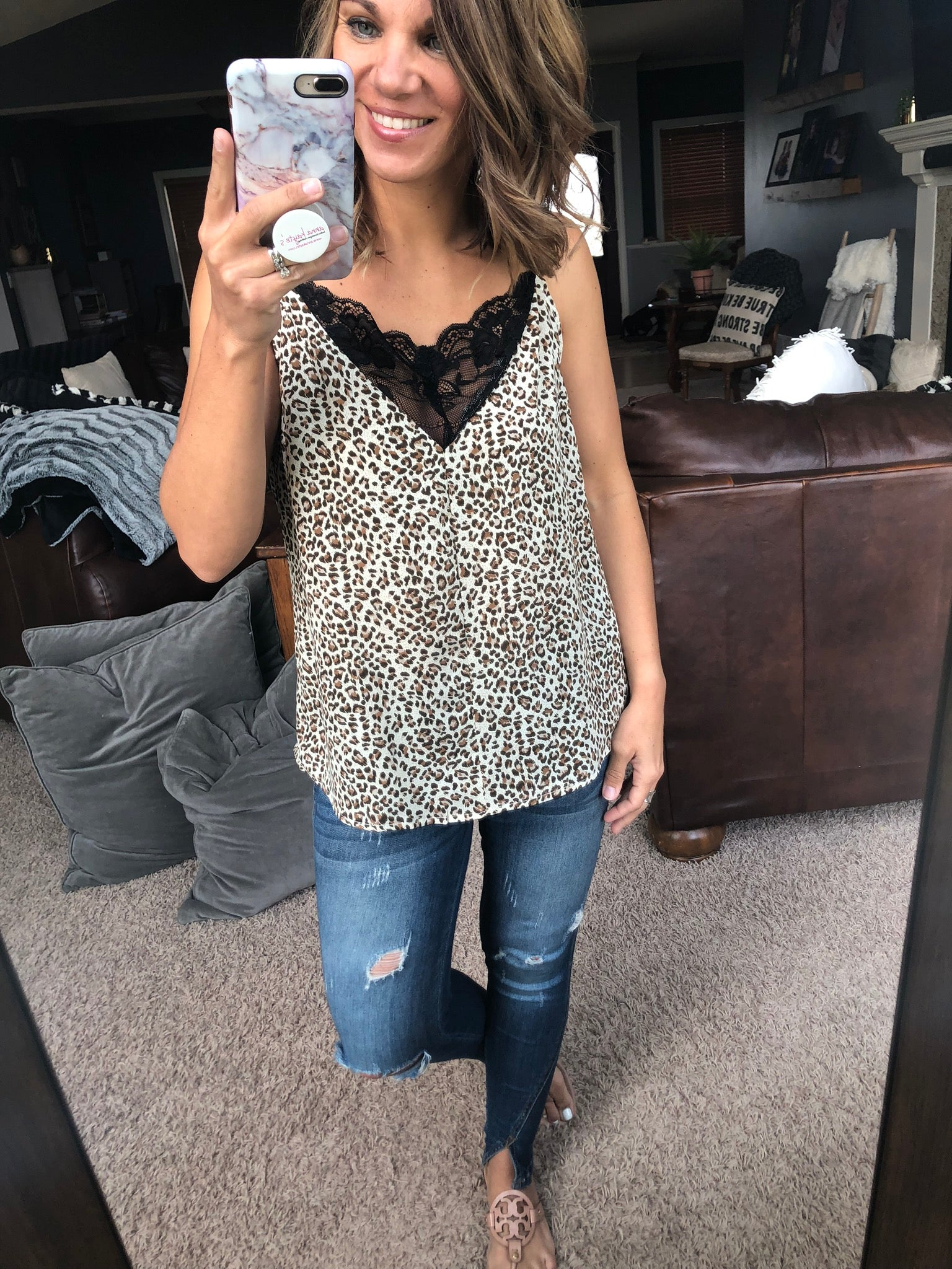 Everything With You Leopard Camo With Lace