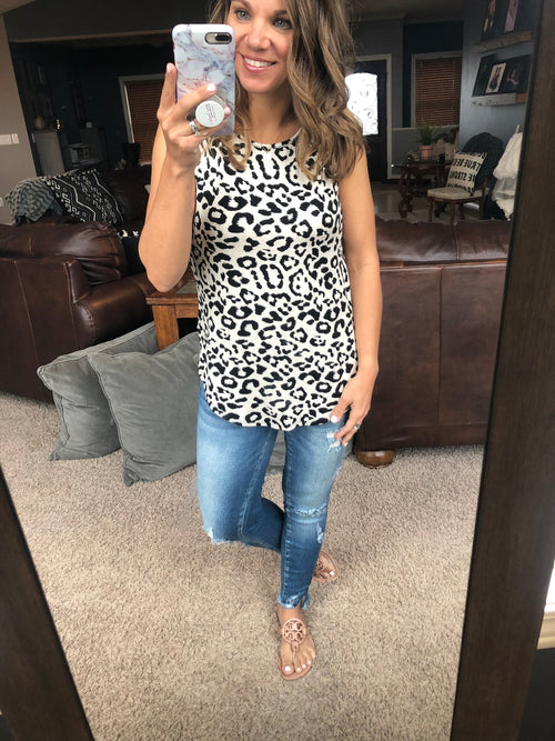 Never Enough Cream Cheetah Tank
