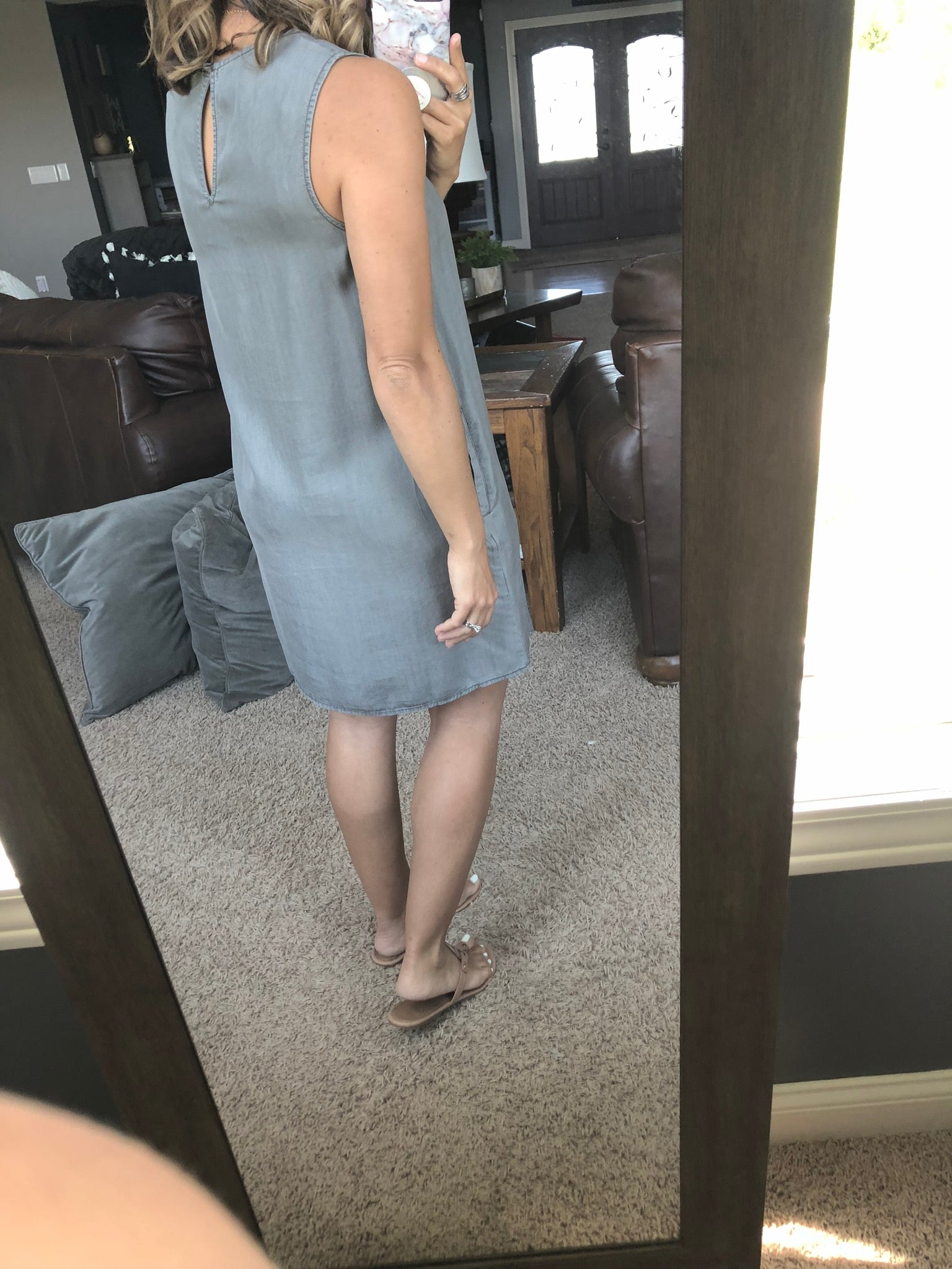 Can't Go Without It Exposed Seam Dress with Pockets