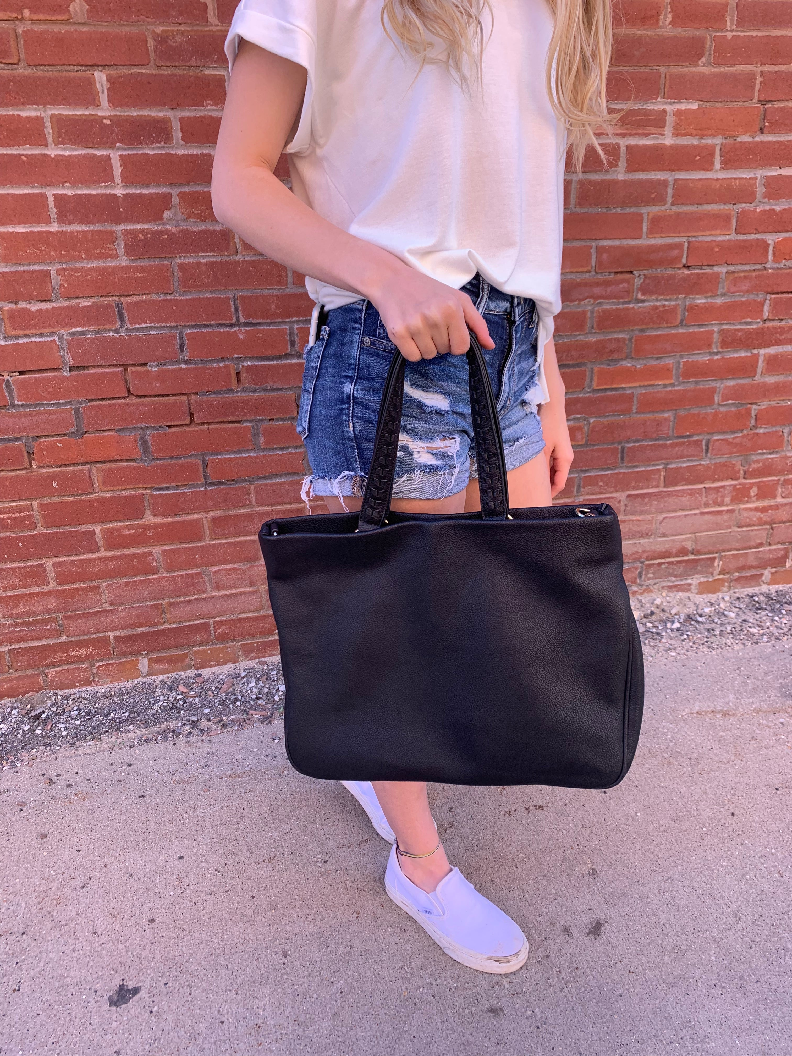 Follow My Tricks Black Square Purse