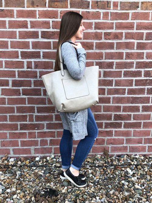 What Could've Been Vegan Leather Mid-Size Tote - Multiple Options