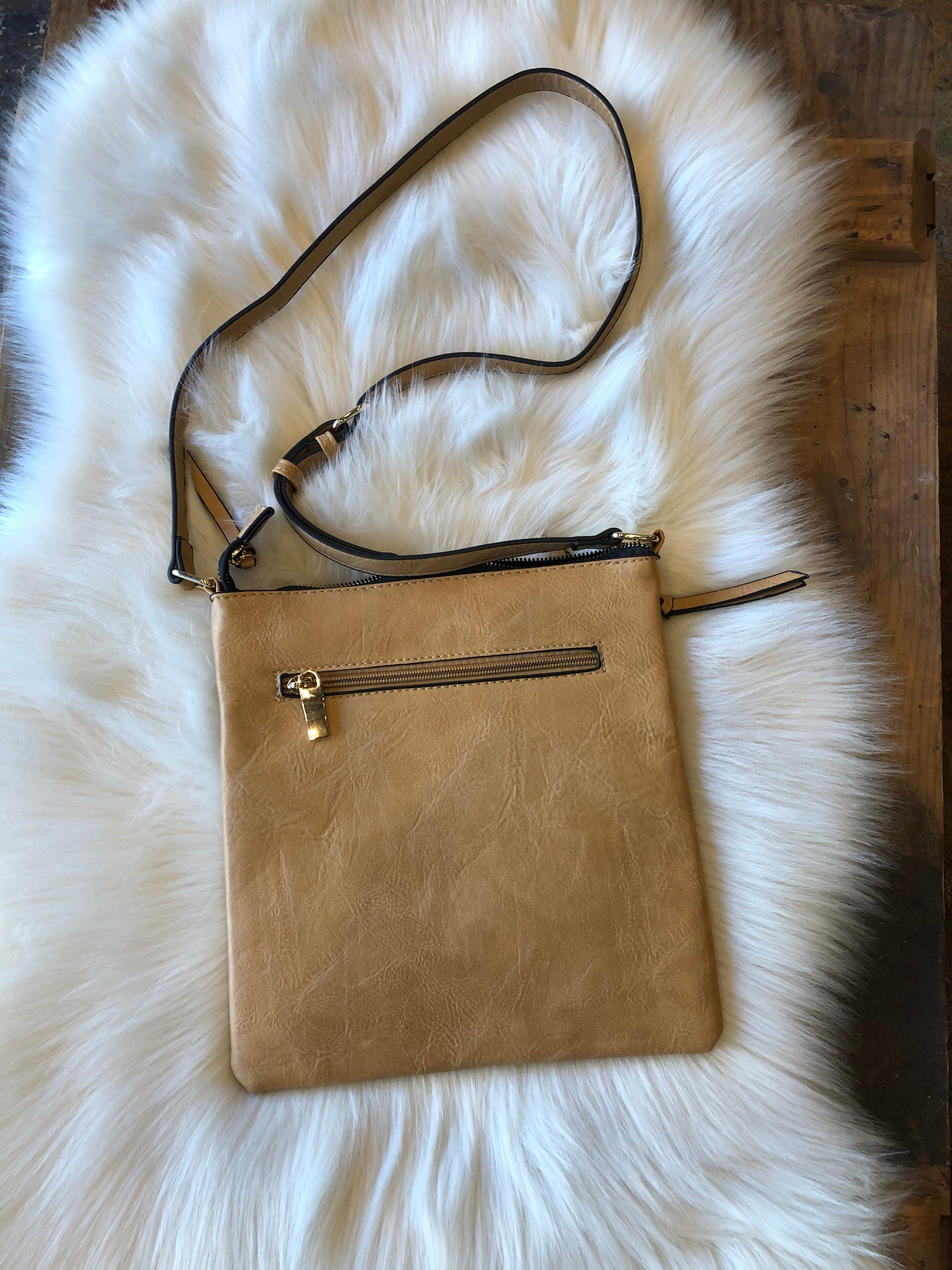 Best Intentions Taupe Crossbody with Braided Detail