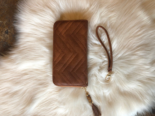 Meant To Be Faux Leather Wallet With Detachable Wristlet Strap- Multiple Options
